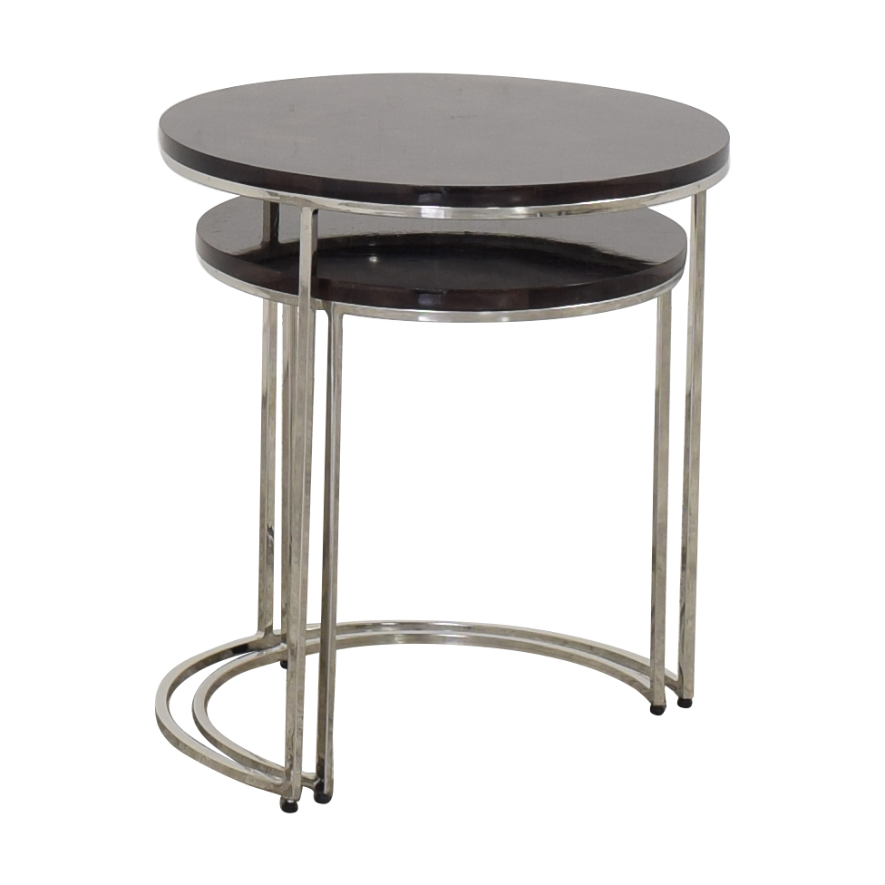 Williams Sonoma Williams Sonoma Antigua Pen Shell Nesting Tables ct