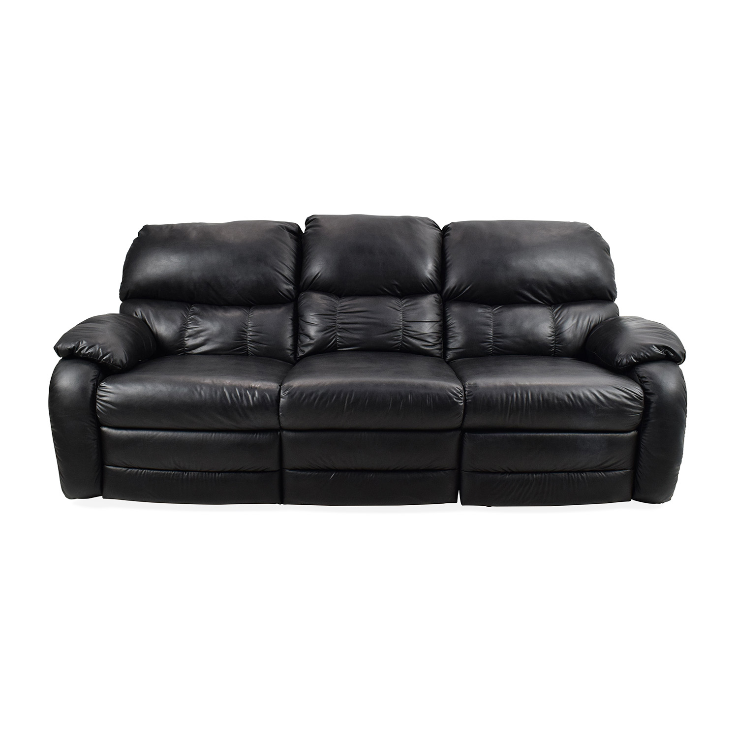 Black Leather Reclining Couch used