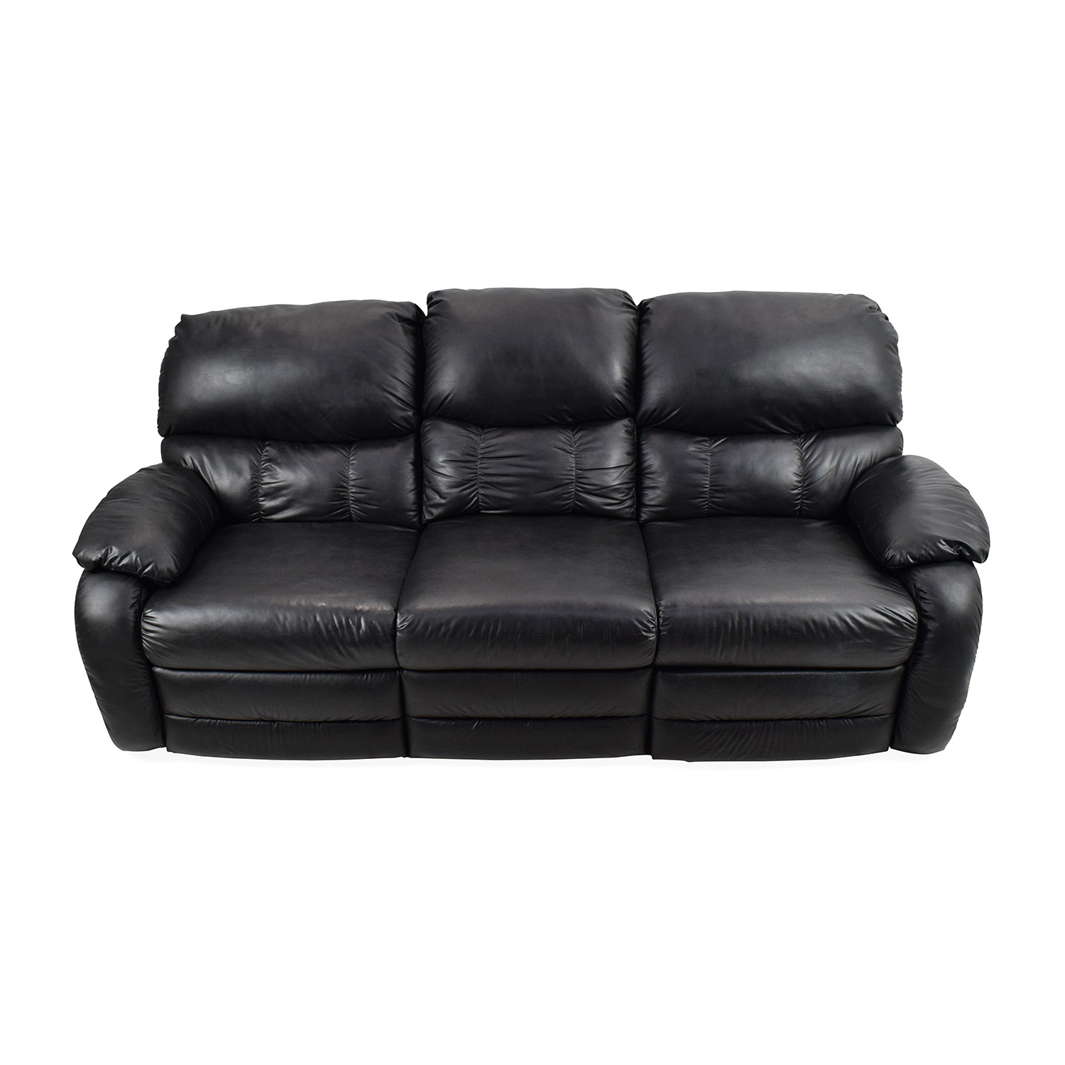 Black Leather Reclining Couch coupon