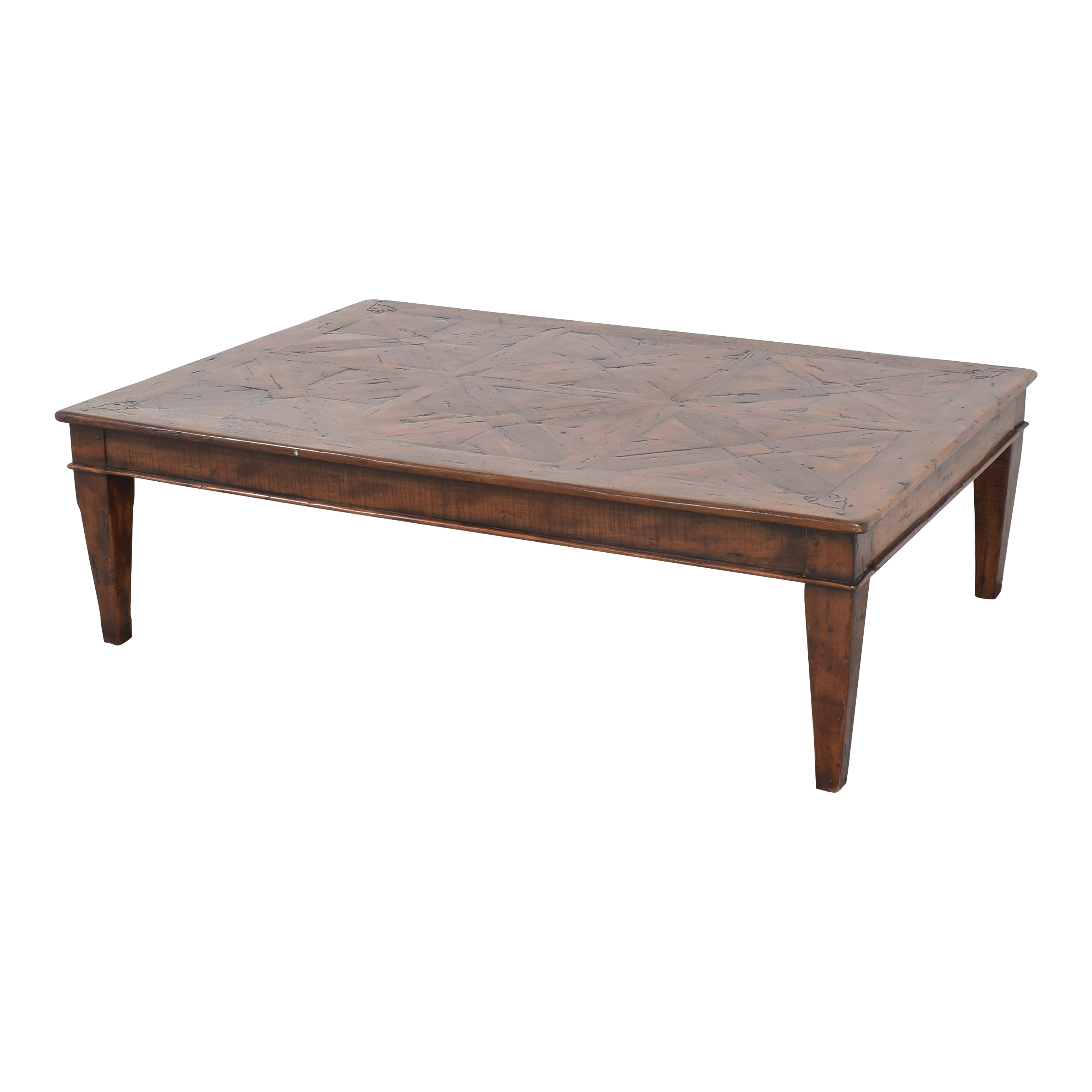 Theodore Alexander Theodore Alexander Castle Bromwich Mahogany Wide Coffee Table on sale