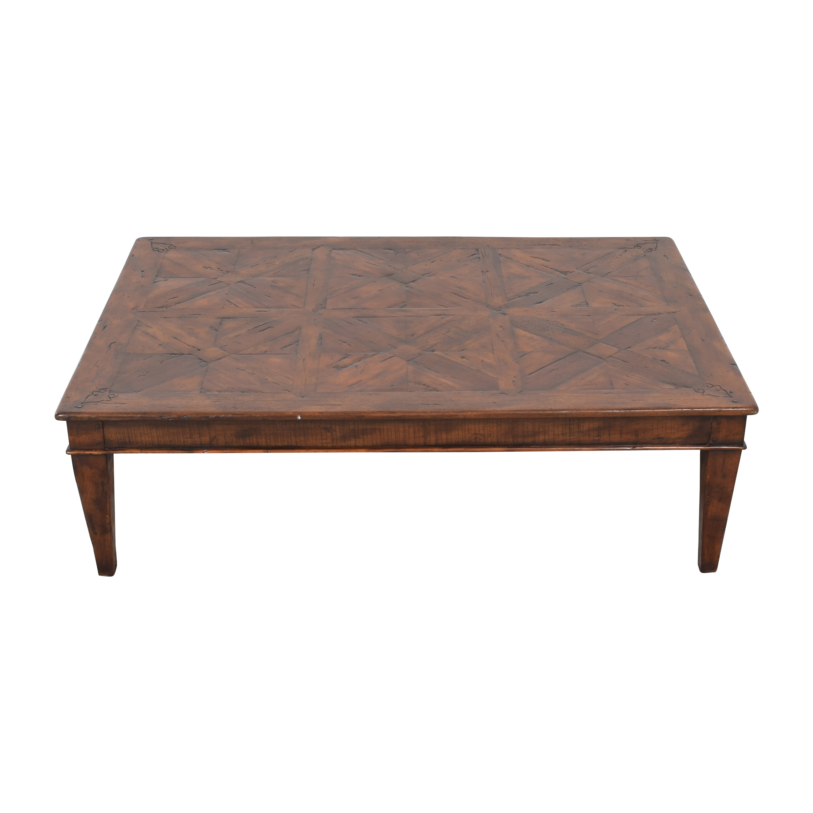 Theodore Alexander Theodore Alexander Castle Bromwich Mahogany Wide Coffee Table ct