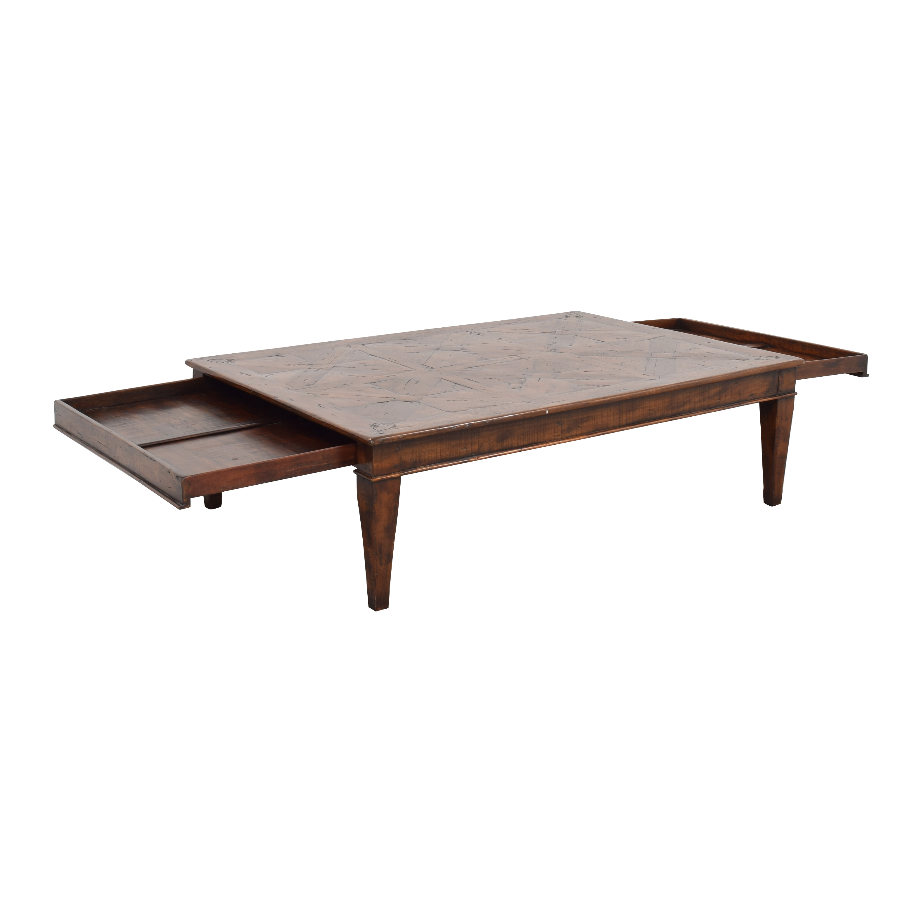 Theodore Alexander Theodore Alexander Castle Bromwich Mahogany Wide Coffee Table nyc