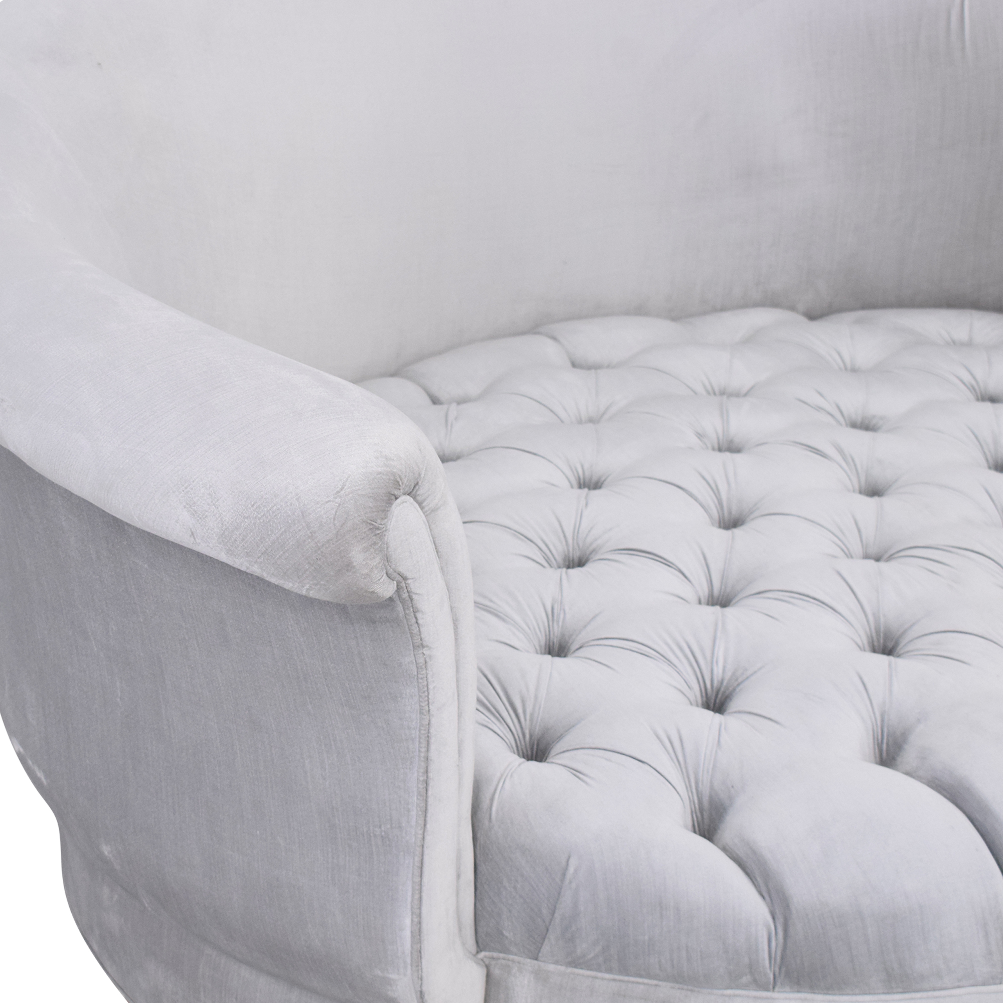 Horchow Horchow Haute House Harlow Silver Cuddle Chair ma