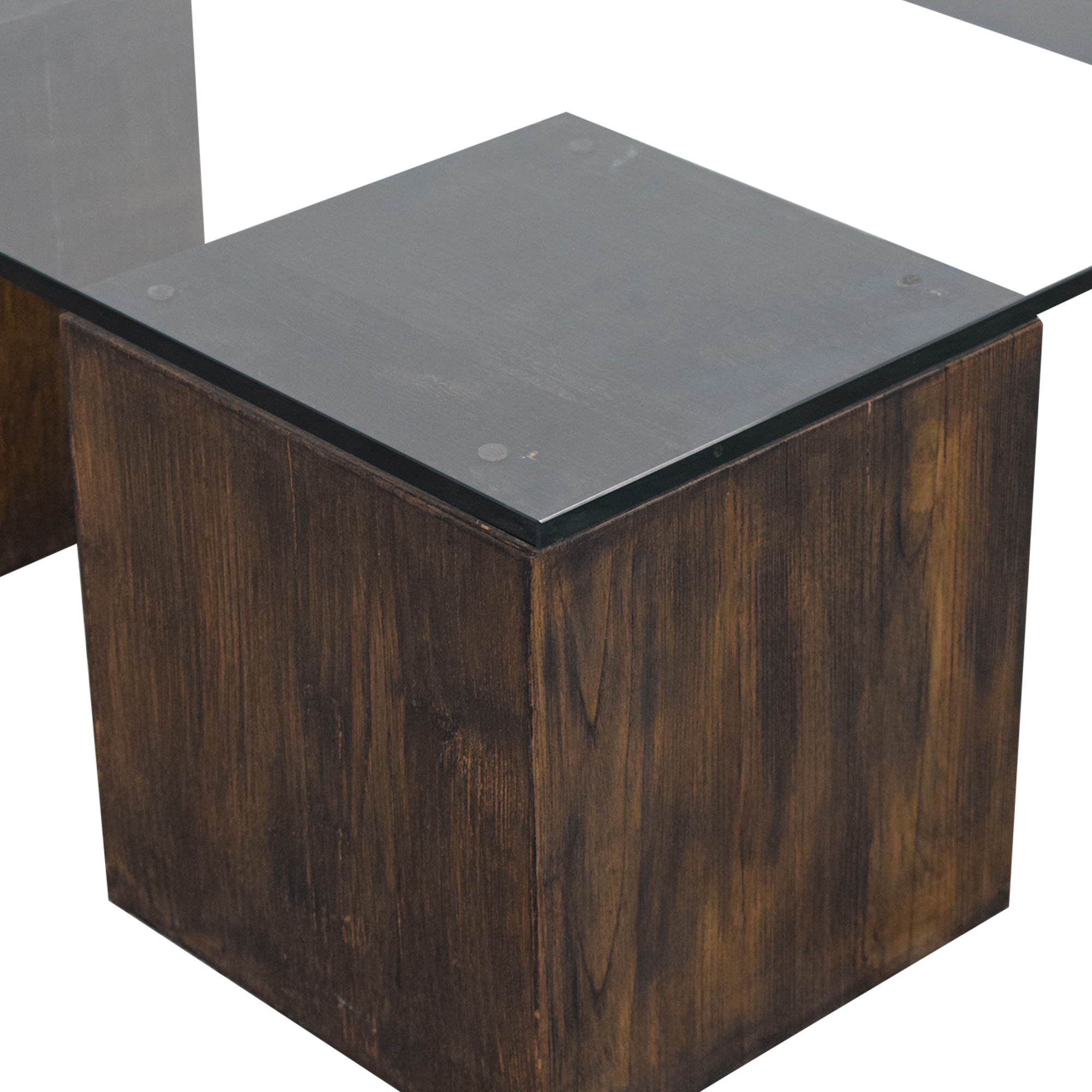 West Elm Raw Cube Coffee Table / Tables