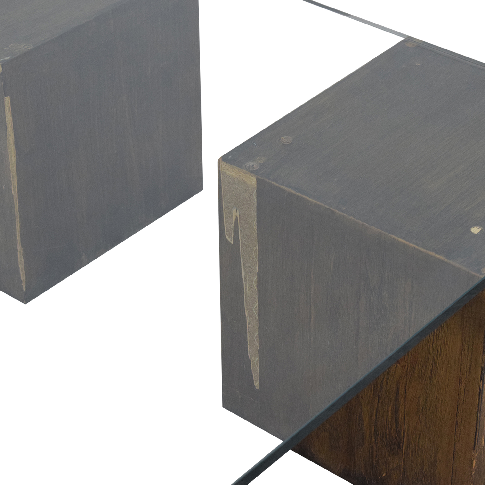 West Elm West Elm Raw Cube Coffee Table pa