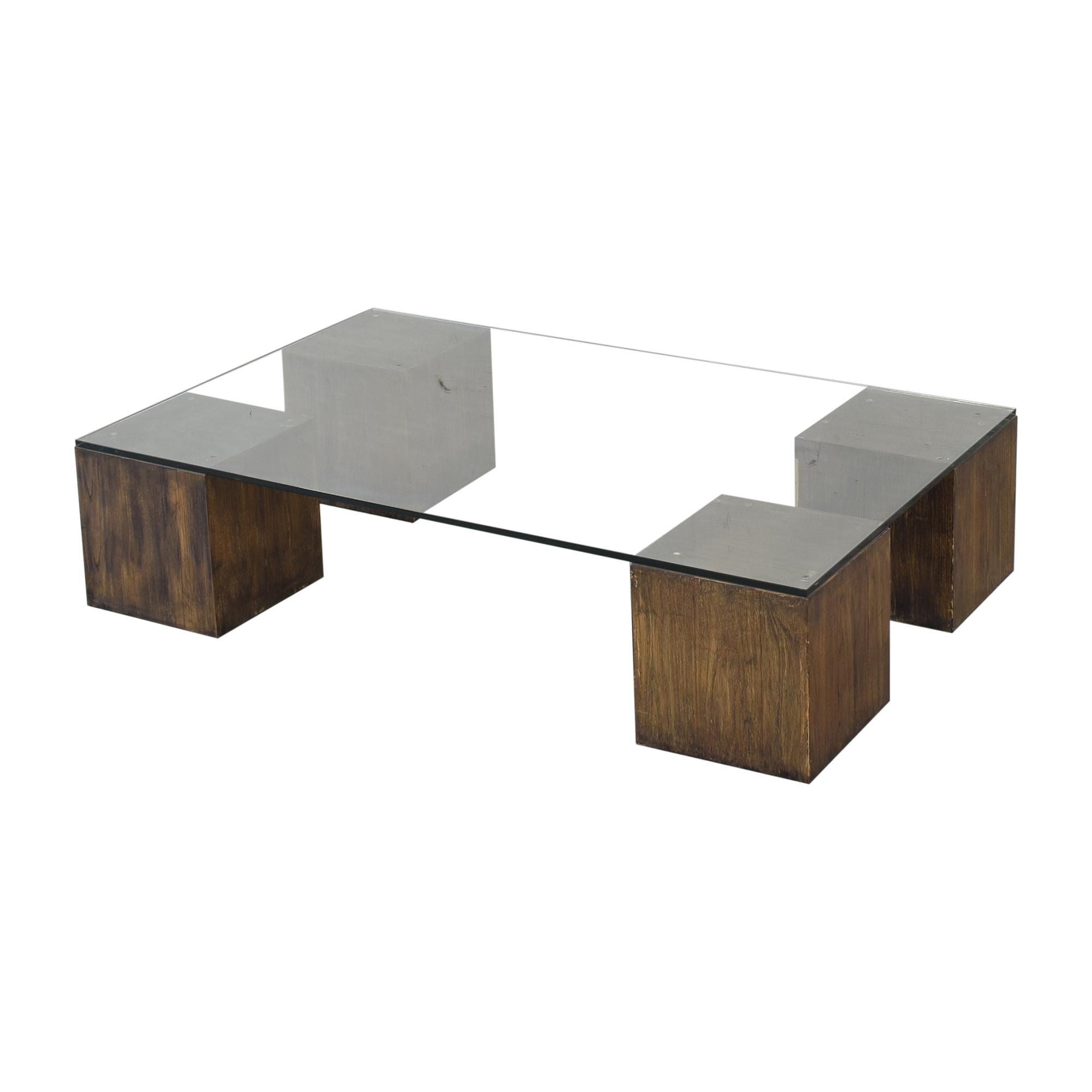 shop West Elm West Elm Raw Cube Coffee Table online