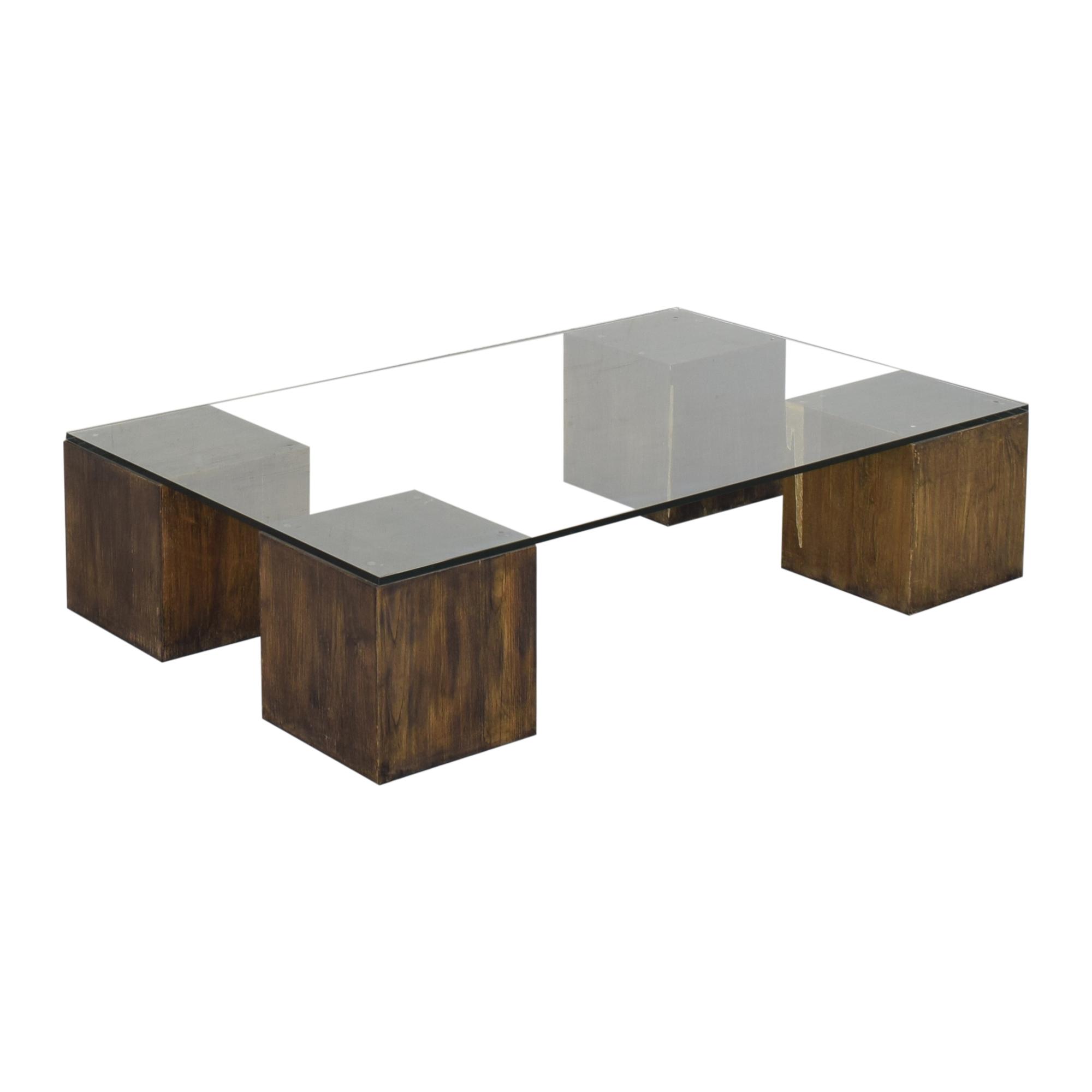 West Elm Raw Cube Coffee Table West Elm
