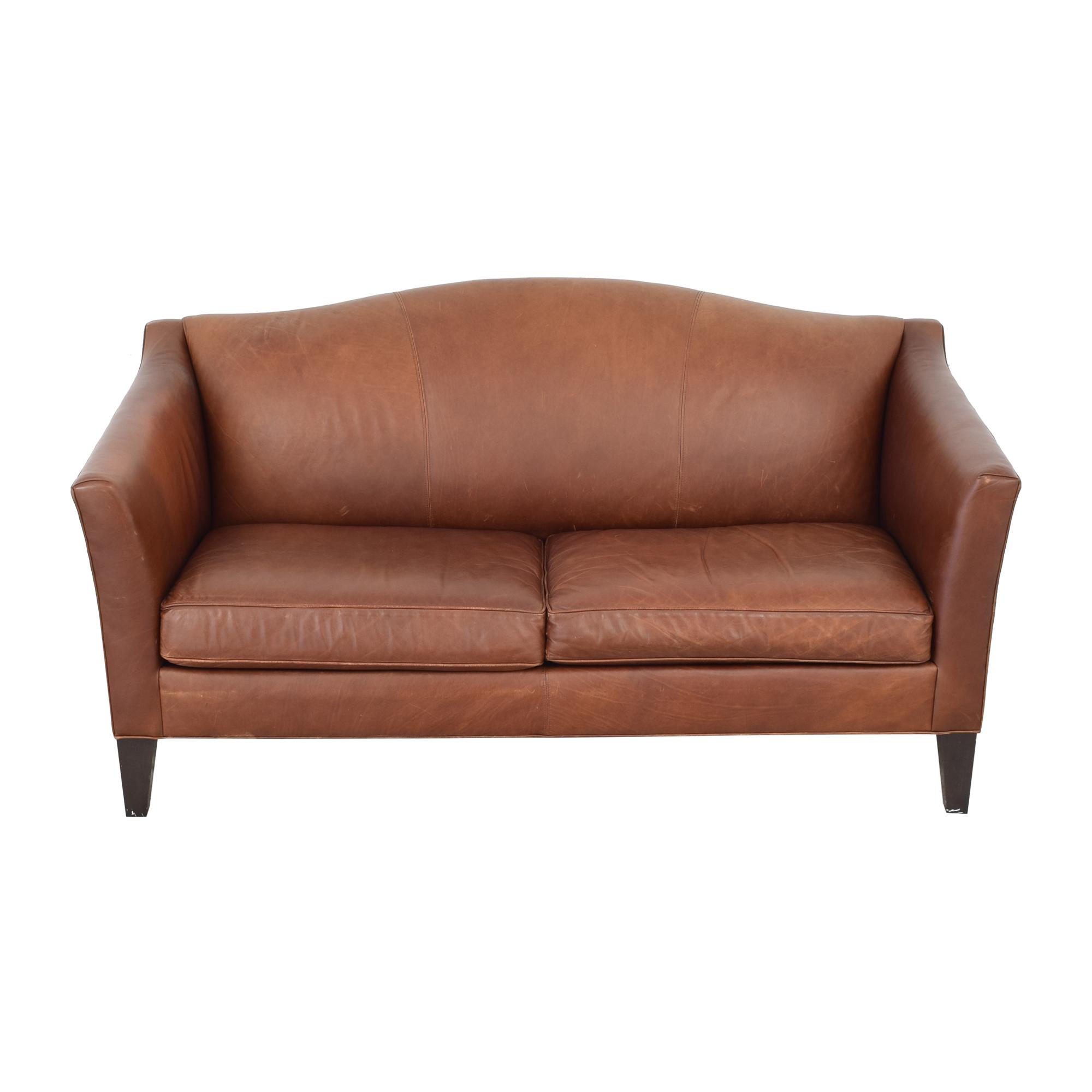 Ethan Allen Ethan Allen Leather Camelback Sofa Classic Sofas