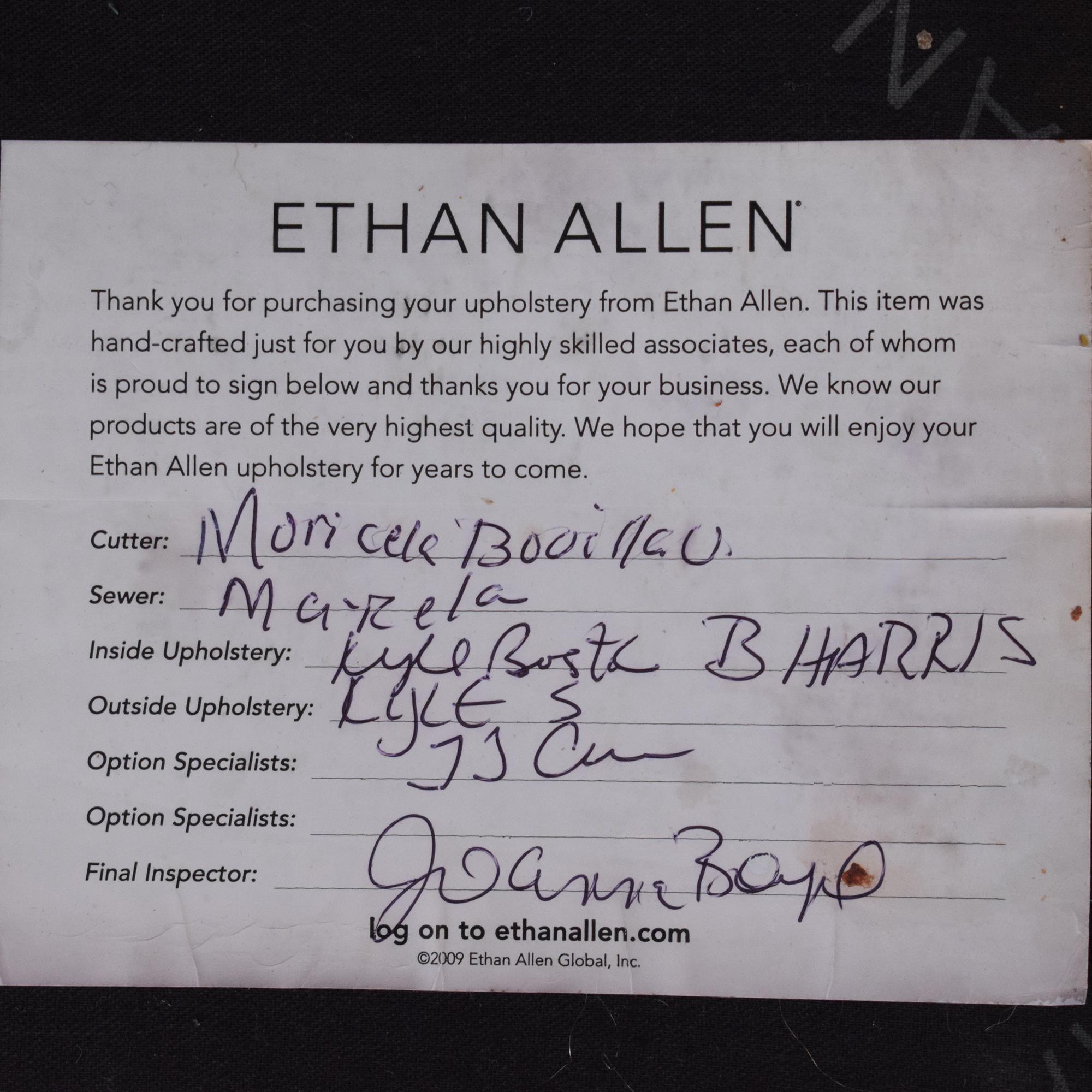 buy Ethan Allen Leather Camelback Sofa Ethan Allen