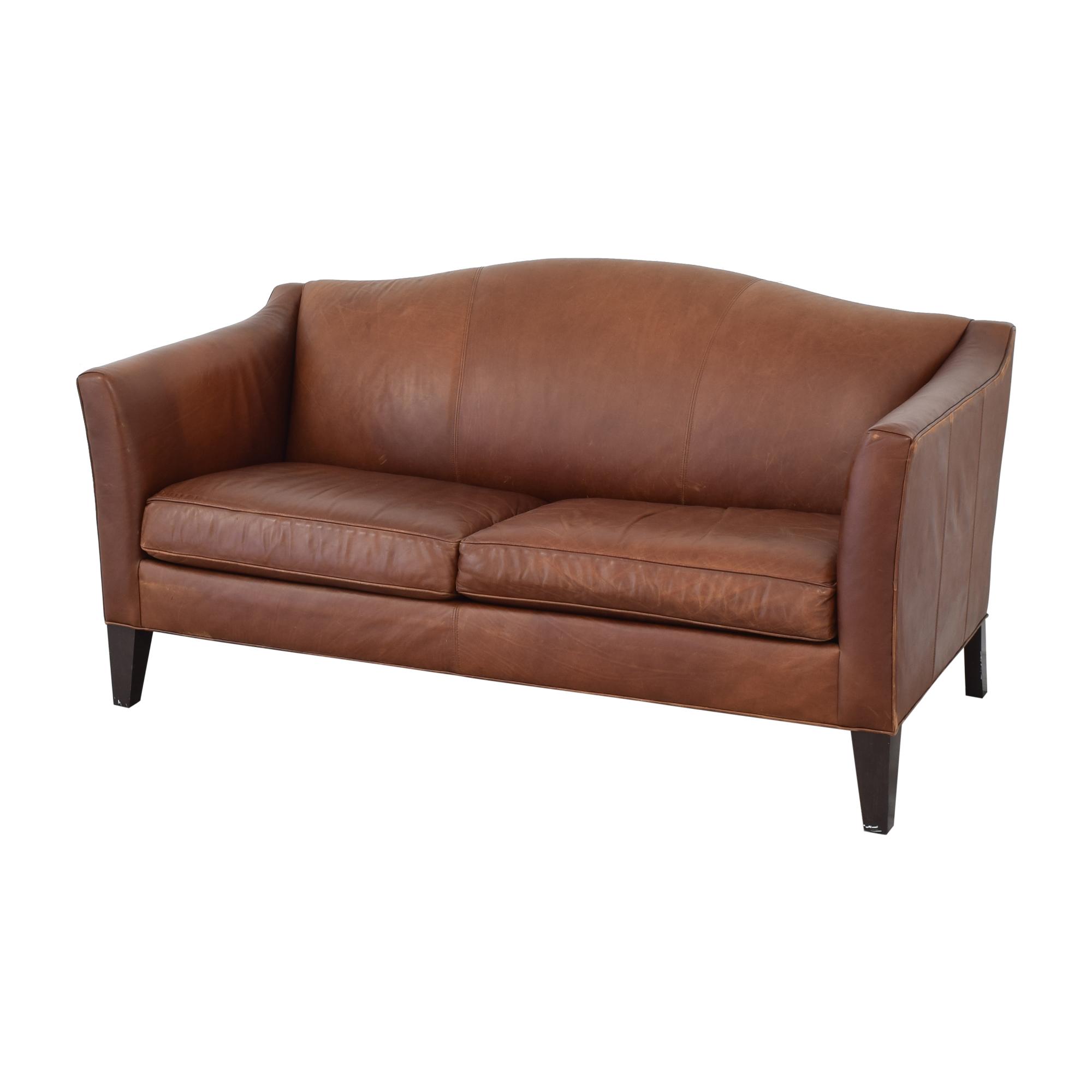 Ethan Allen Ethan Allen Leather Camelback Sofa price
