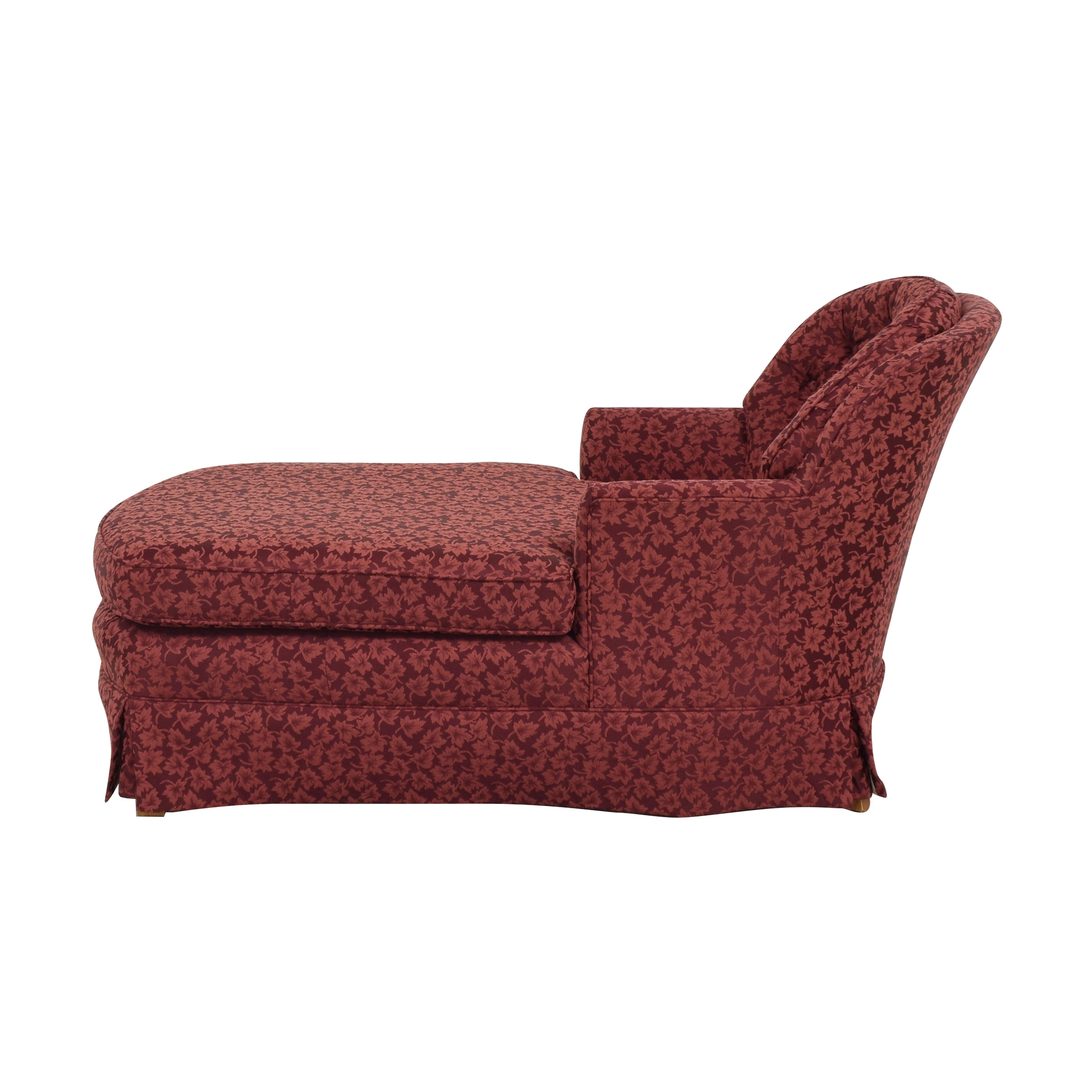 Patterned Upholstered Chaise