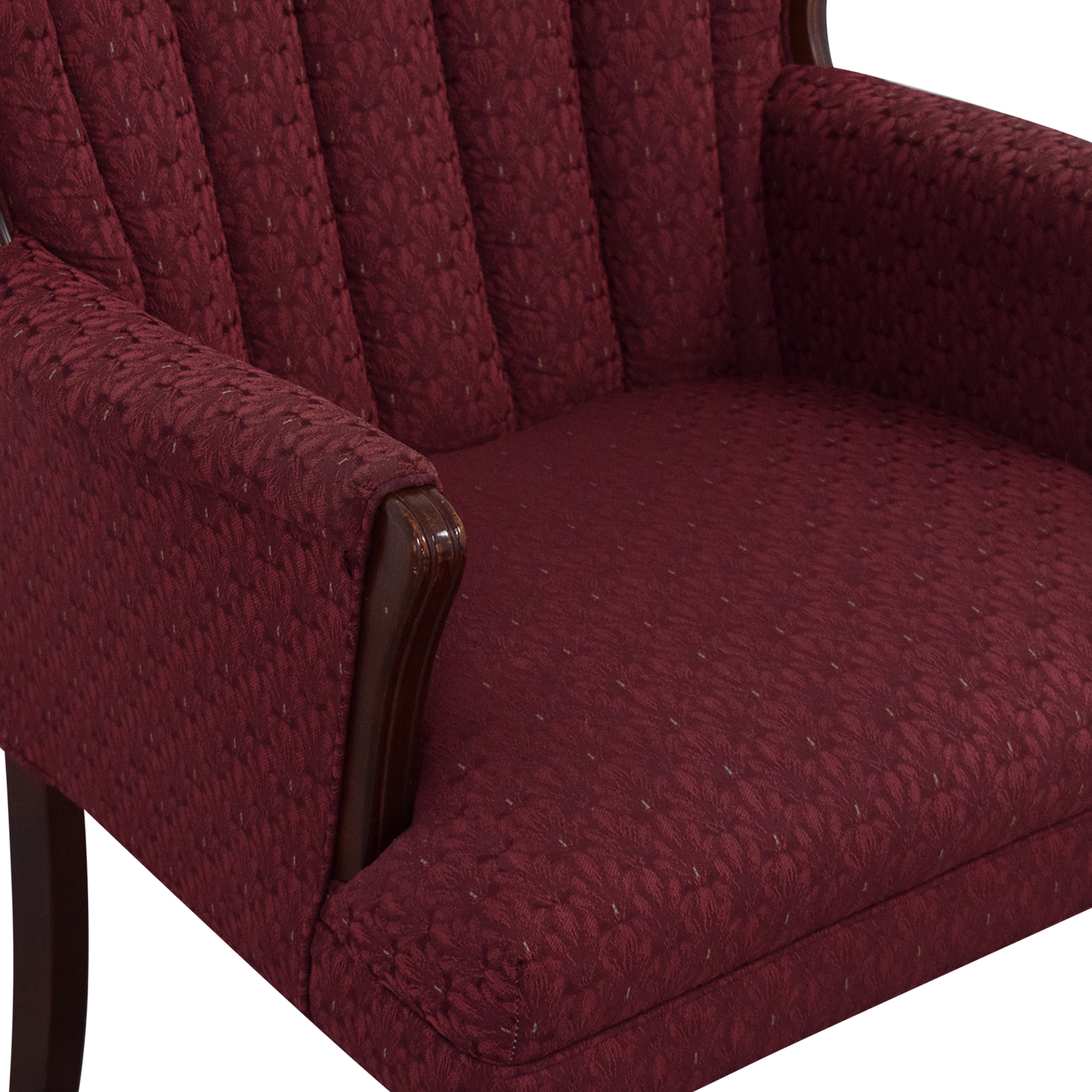 Best Chairs Queen Anne Scallop-Back Chair and Ottoman / Accent Chairs