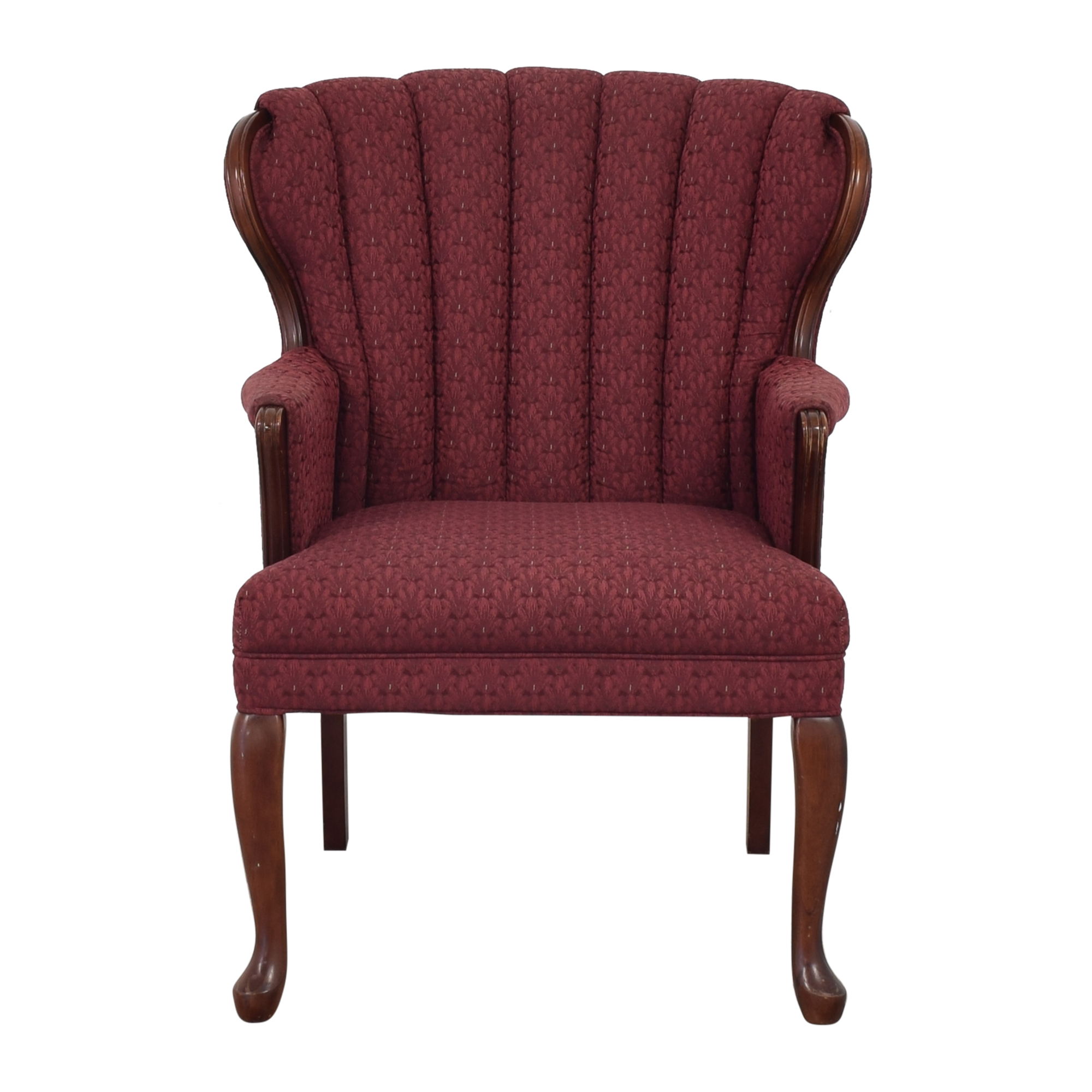 shop Best Chairs Queen Anne Scallop-Back Chair and Ottoman Best Chairs Chairs