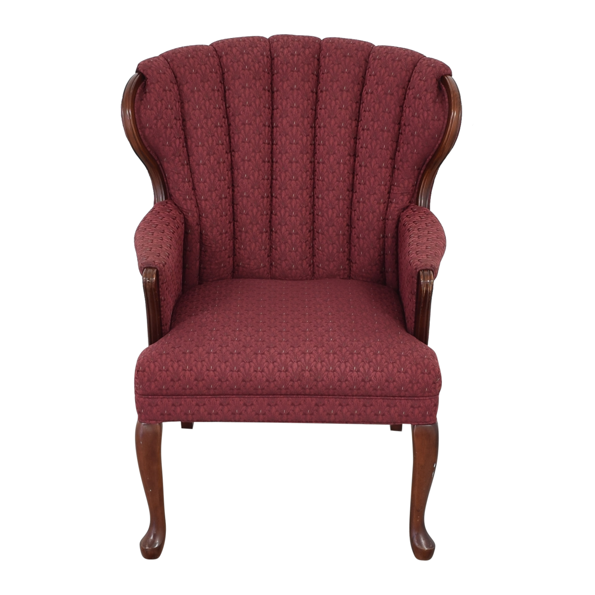 Best Chairs Best Chairs Queen Anne Scallop-Back Chair and Ottoman nj