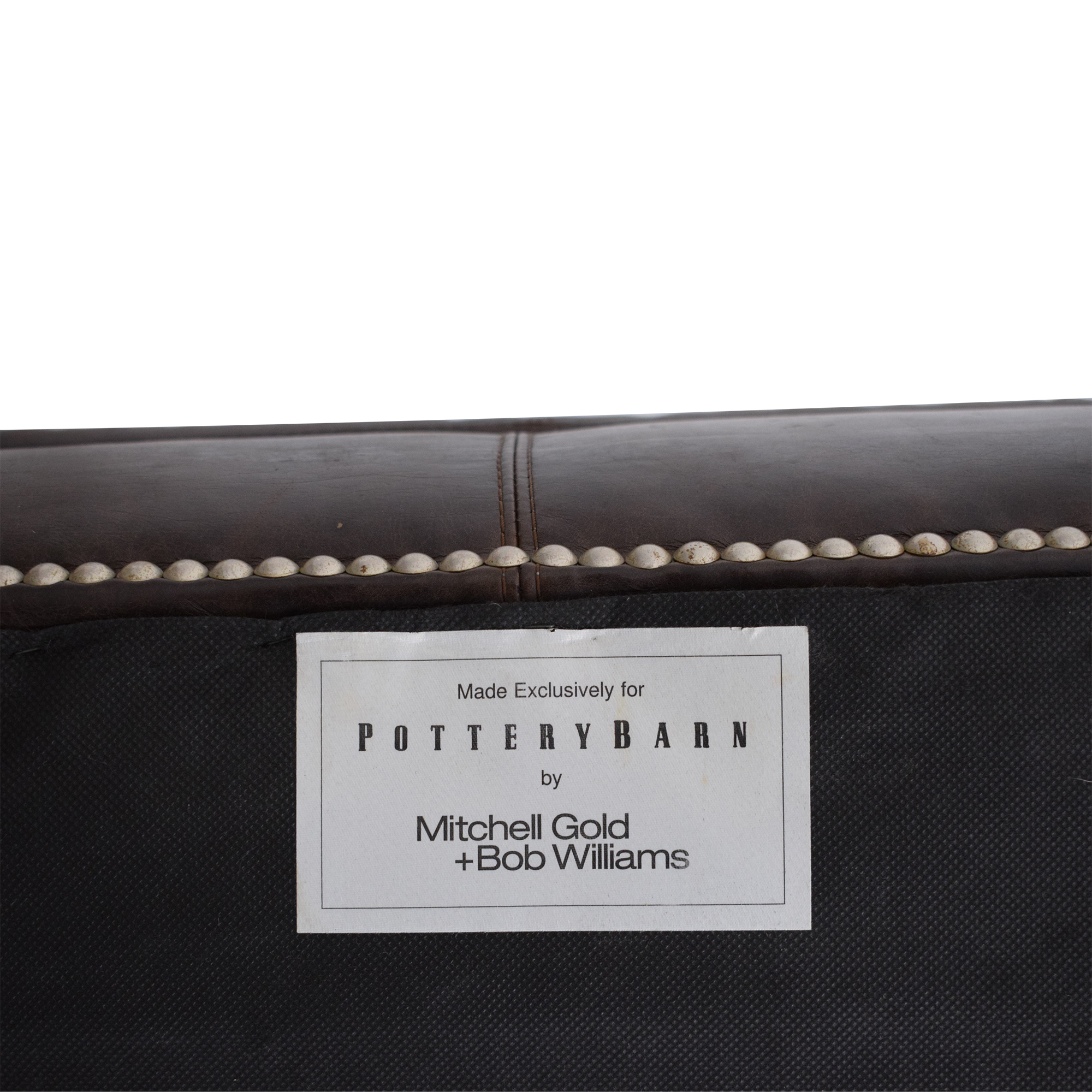 buy Pottery Barn by Mitchell Gold + Bob Williams Ottoman with Nailheads Pottery Barn Ottomans