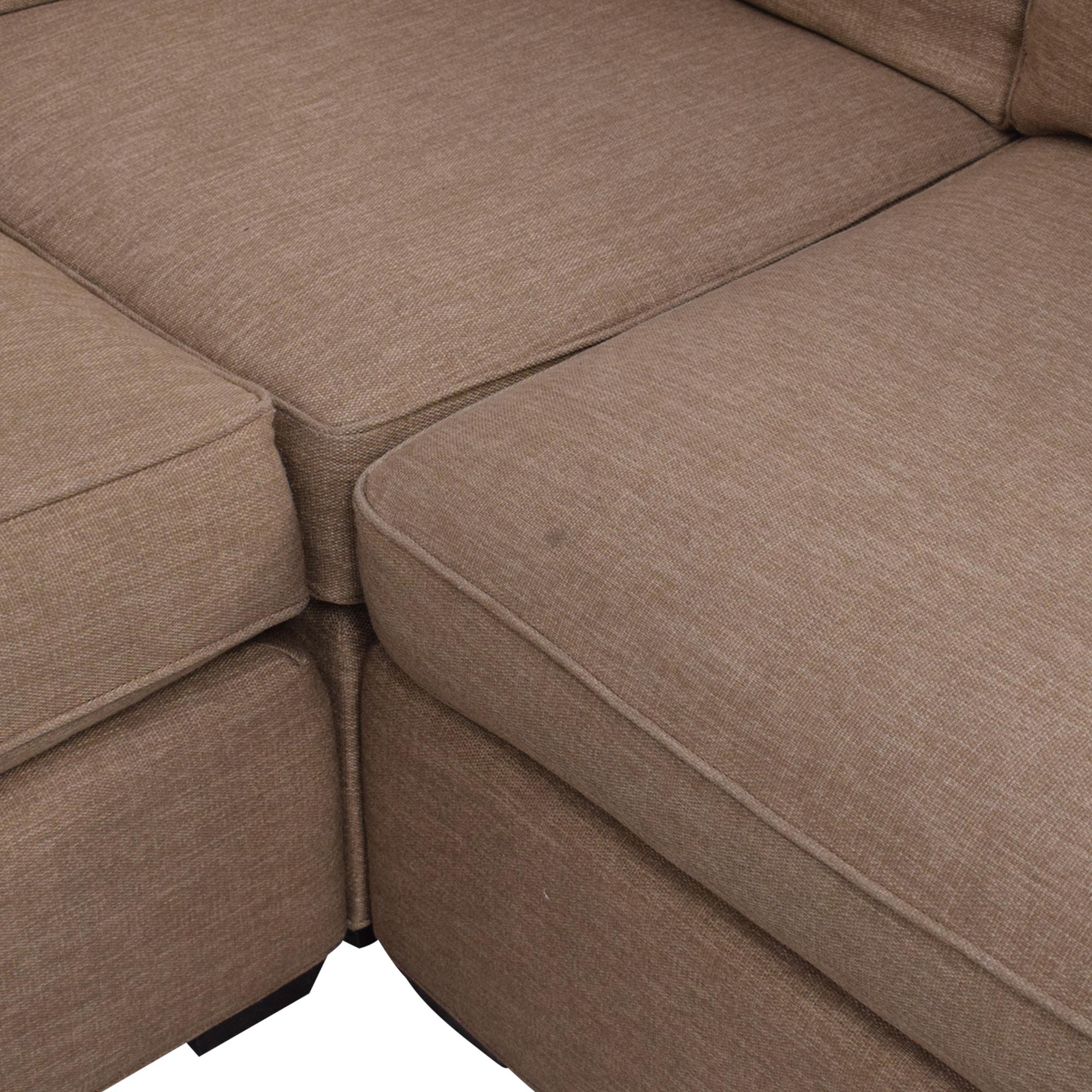 Crate & Barrel Davis Sectional Sofa / Sofas