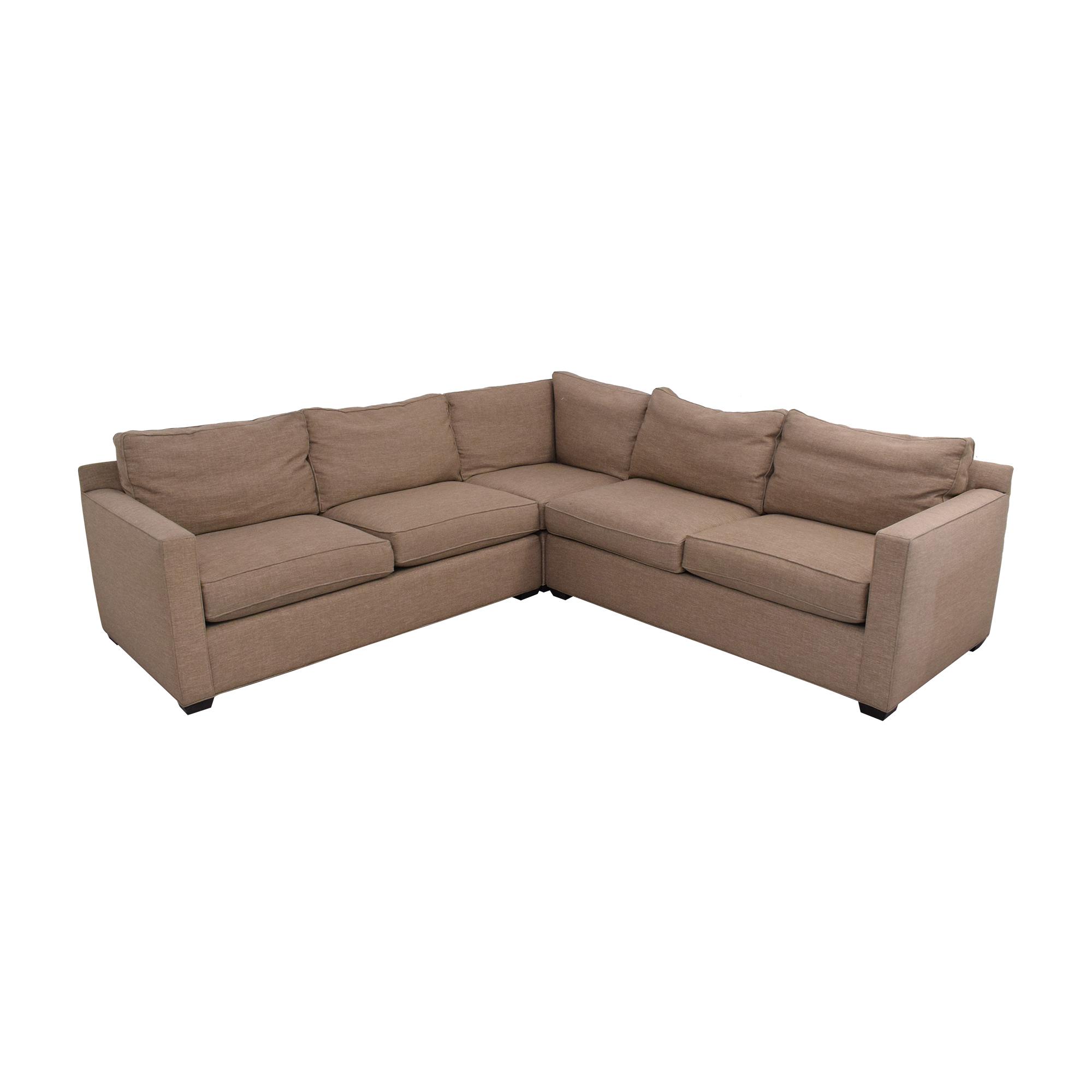 shop Crate & Barrel Davis Sectional Sofa Crate & Barrel Sectionals