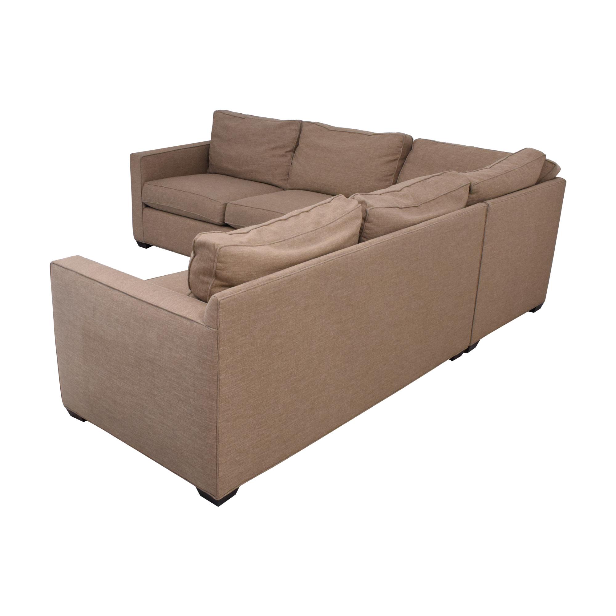 Crate & Barrel Crate & Barrel Davis Sectional Sofa for sale