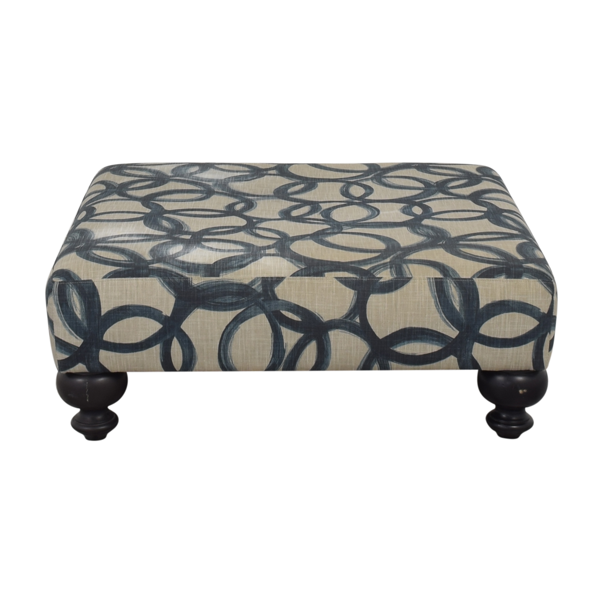 West Elm West Elm Essex Upholstered Ottoman used