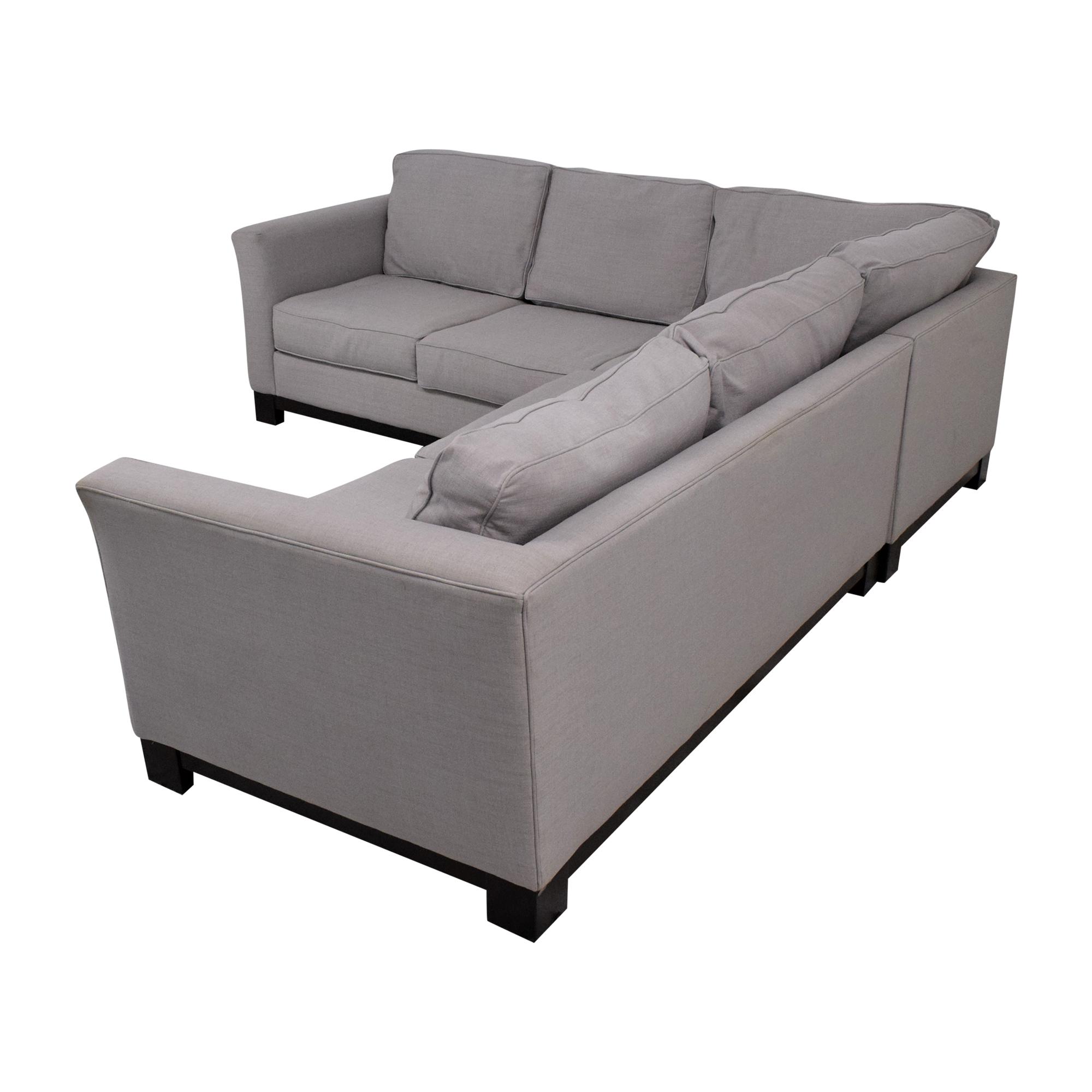Macy's Macy's Elliot 2pc Sleeper Sofa Sectional dimensions