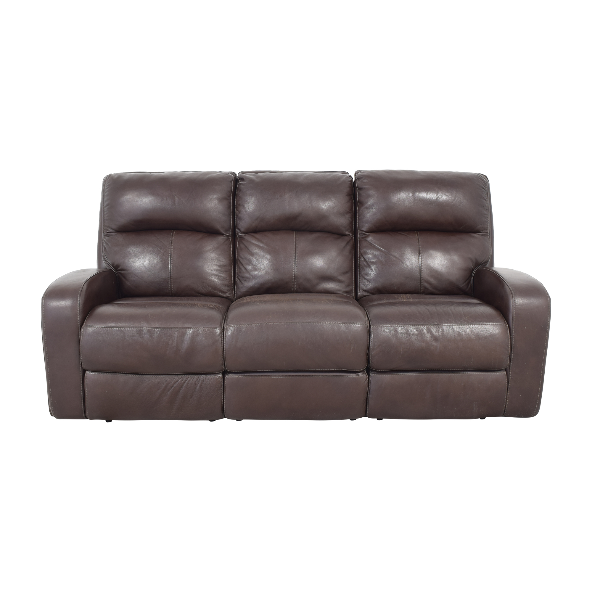 Macy's Macy's Goodwick Leather Dual Power Motion Sofa Classic Sofas