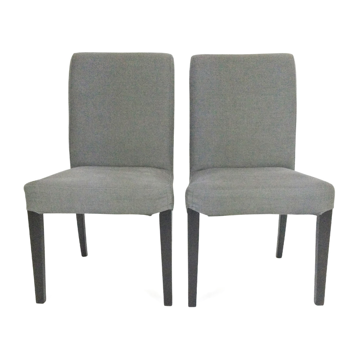 2 Charcoal Grey Chairs Gray