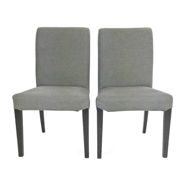 2 Charcoal Grey Chairs on sale
