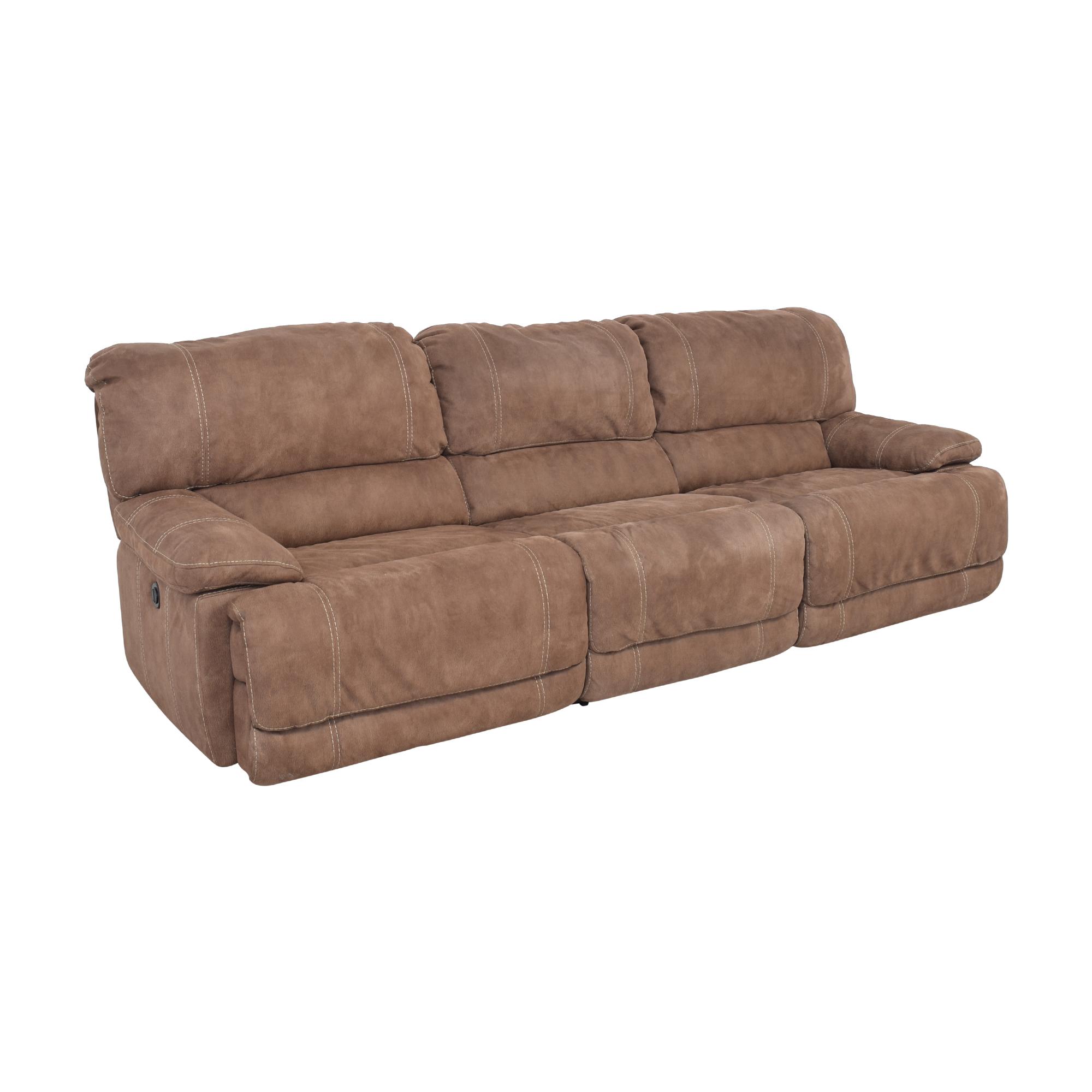 shop Macy's Macy's Three Cushion Reclining Sofa online