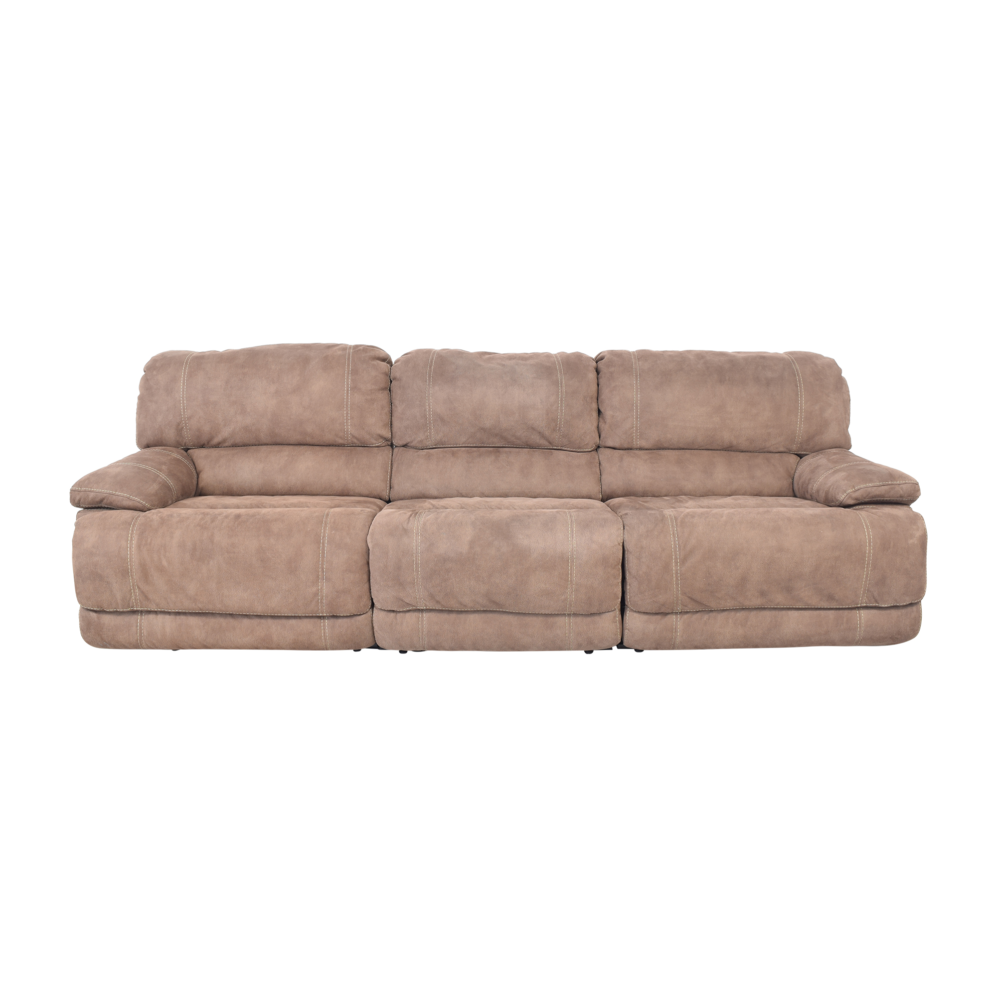 Macy's Macy's Three Cushion Reclining Sofa nyc
