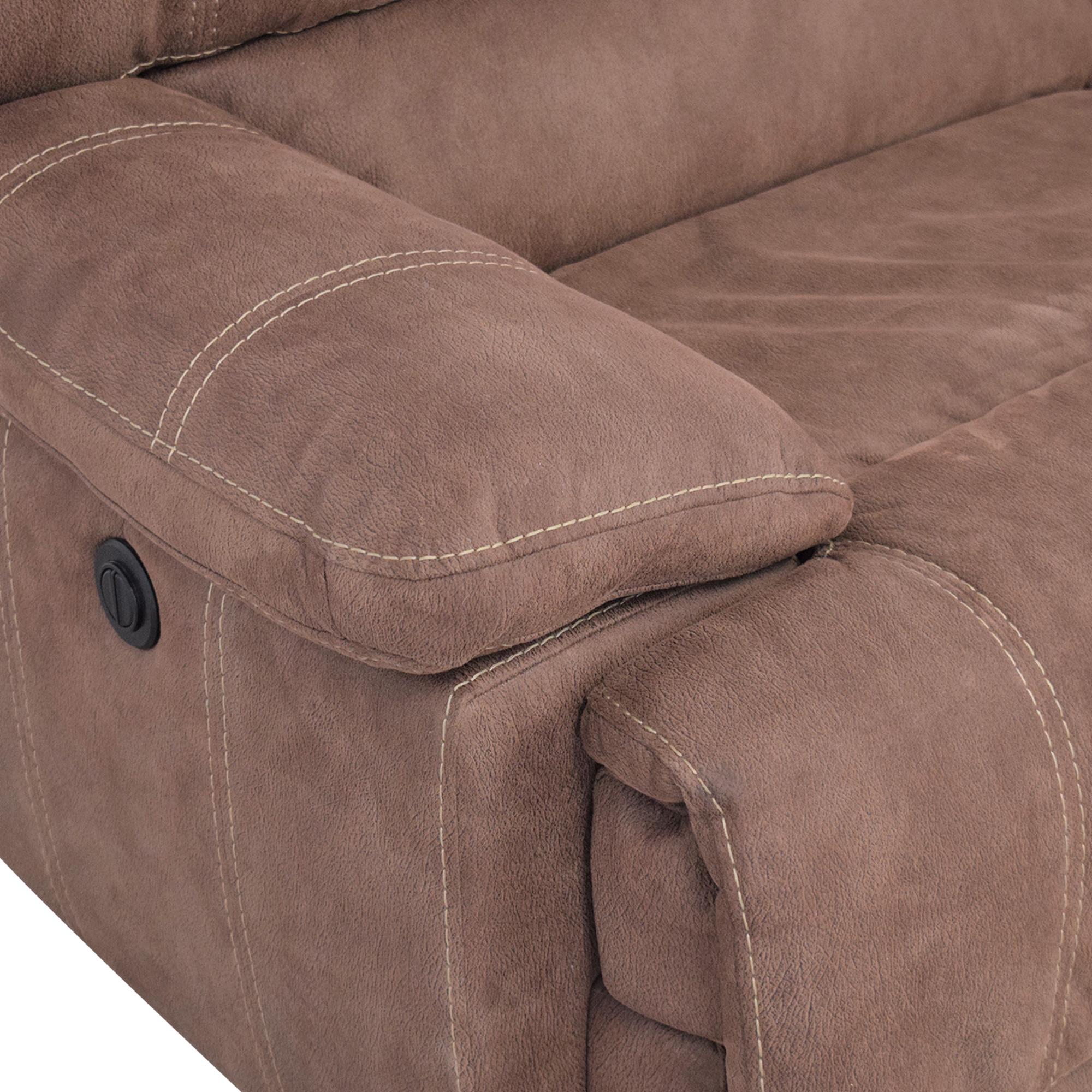 Macy's Macy's Three Cushion Reclining Sofa used