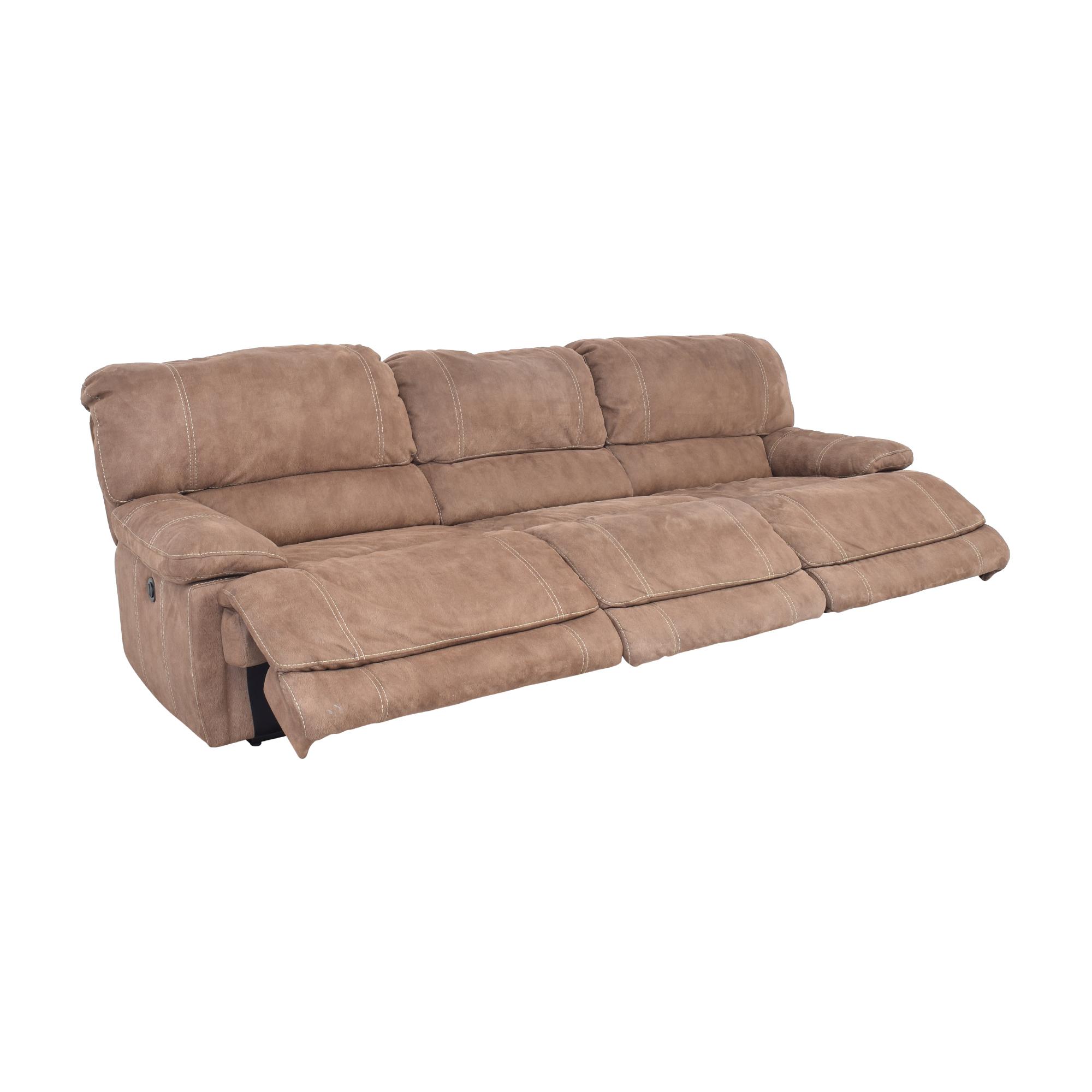 Macy's Macy's Three Cushion Reclining Sofa Sofas