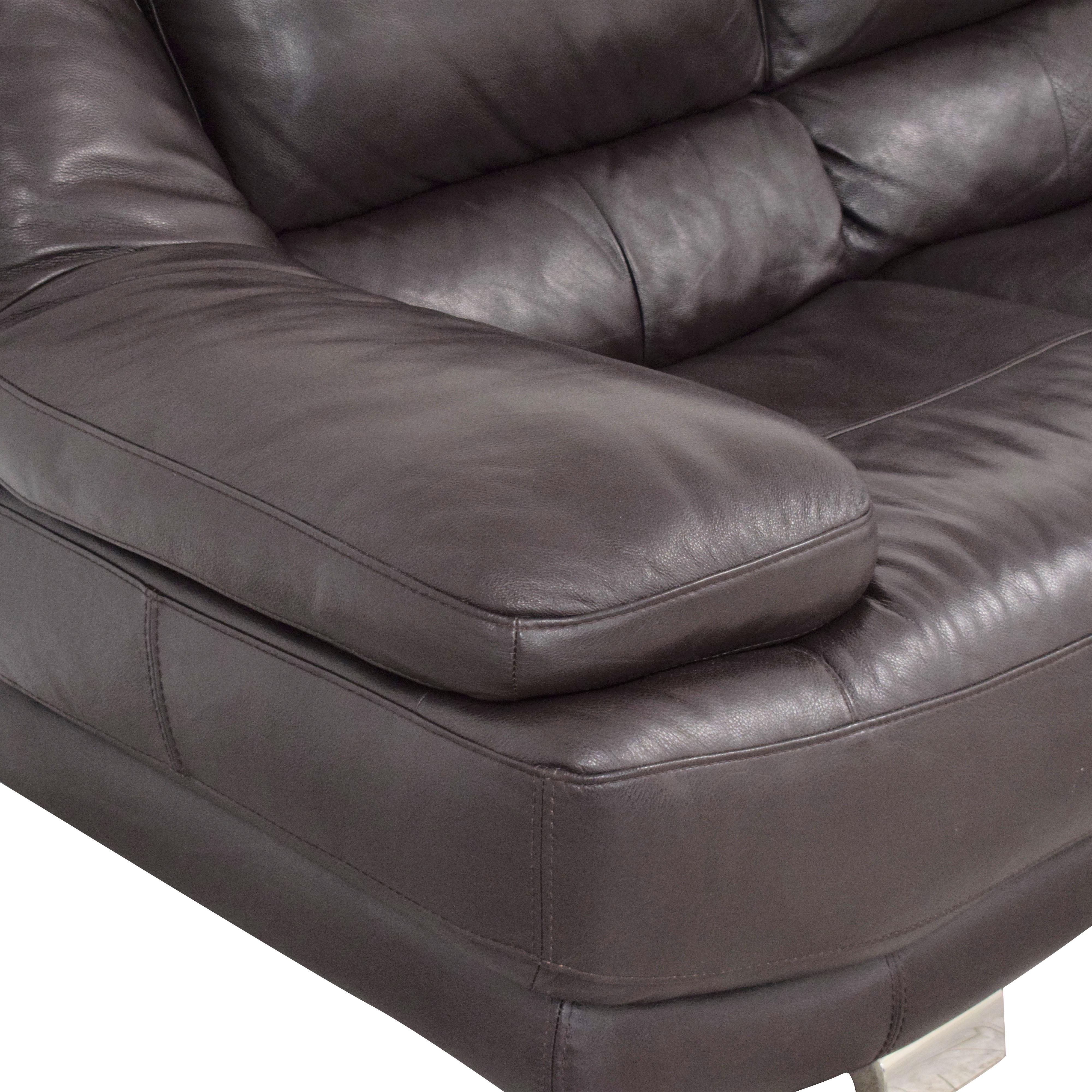 shop Raymour & Flanigan Three Seat Sofa Raymour & Flanigan