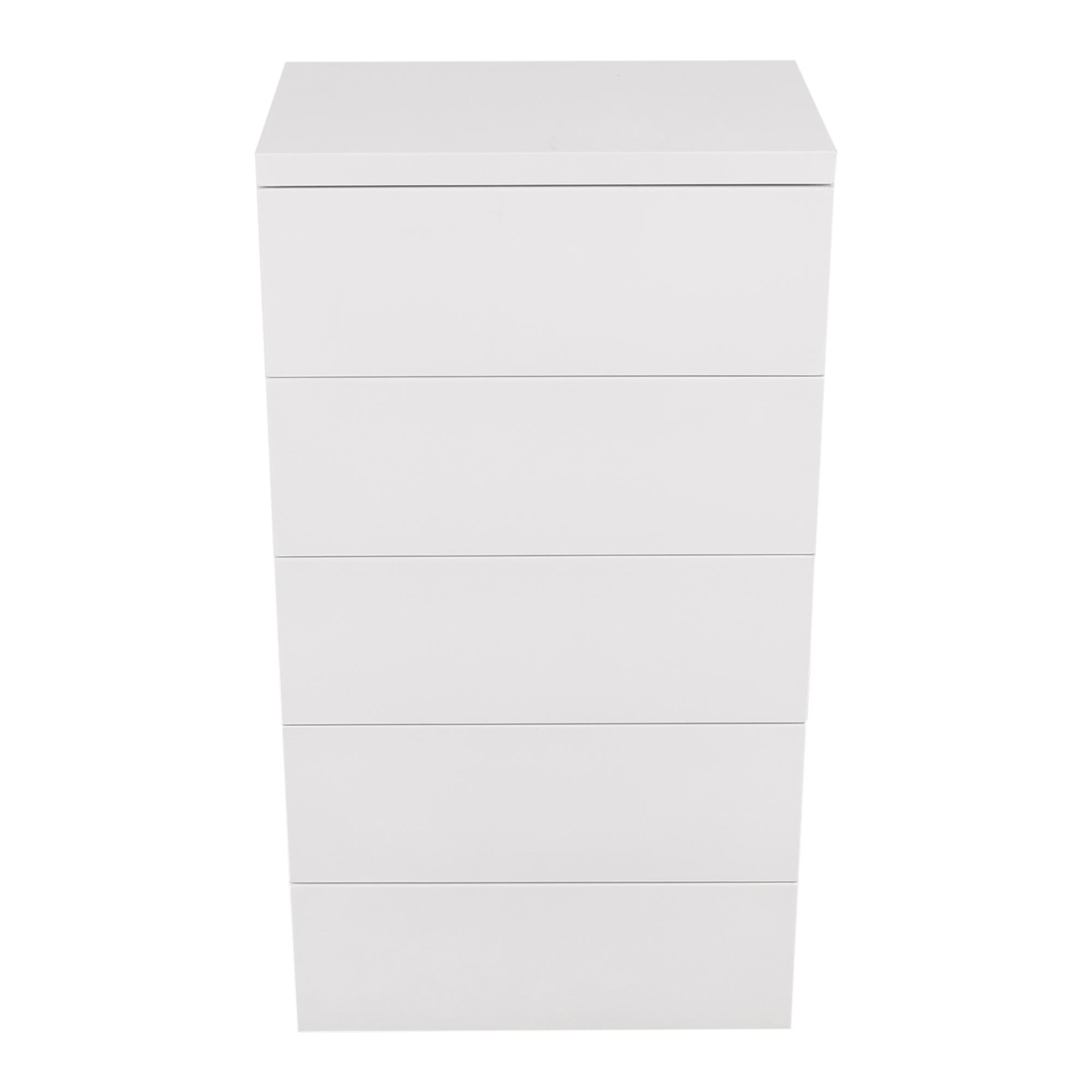 buy AllModern AllModern White Gloss 5 Drawer Chest online