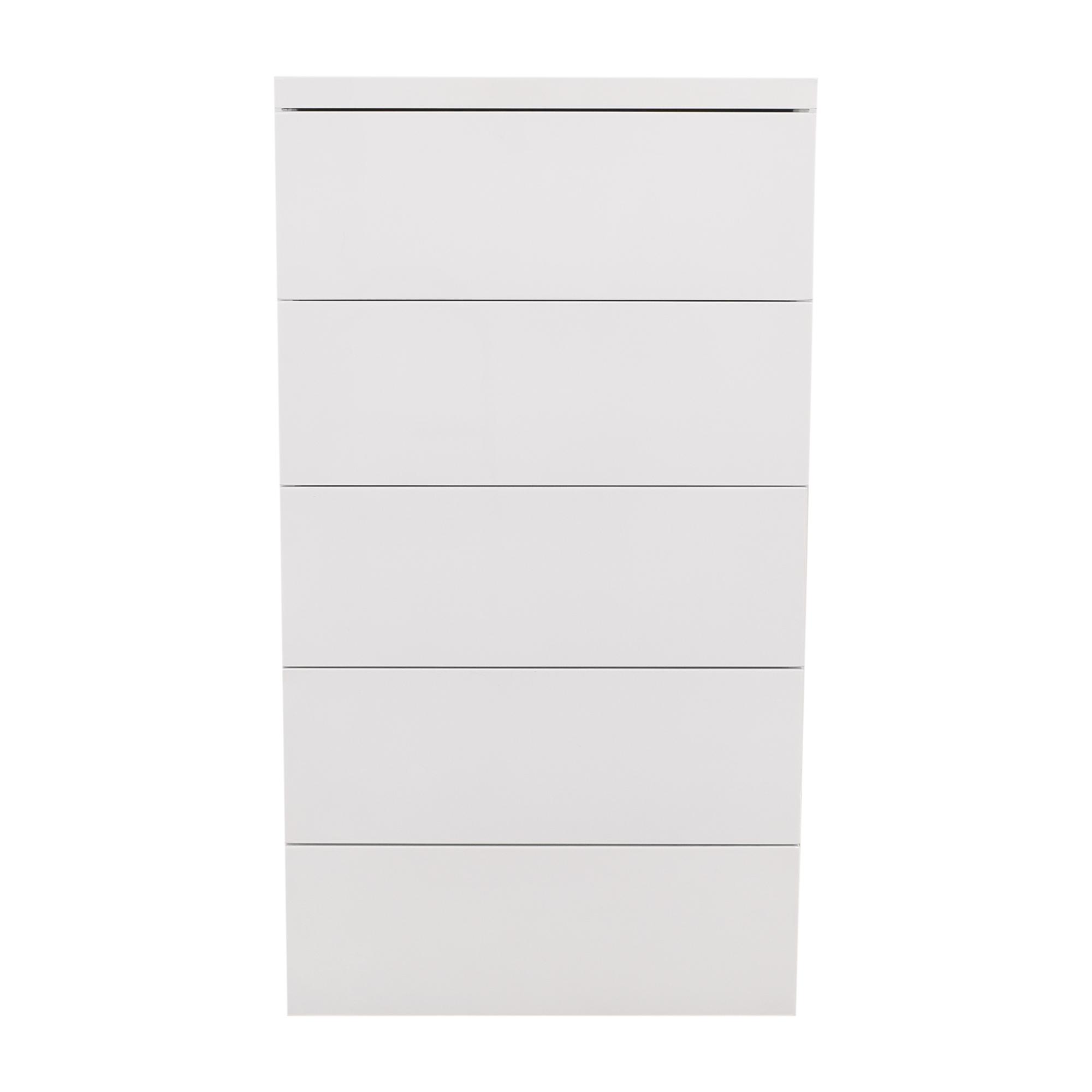 AllModern AllModern White Gloss 5 Drawer Chest coupon