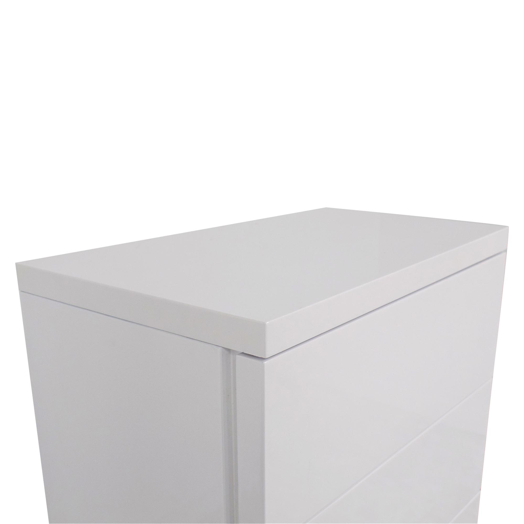 AllModern AllModern White Gloss 5 Drawer Chest discount