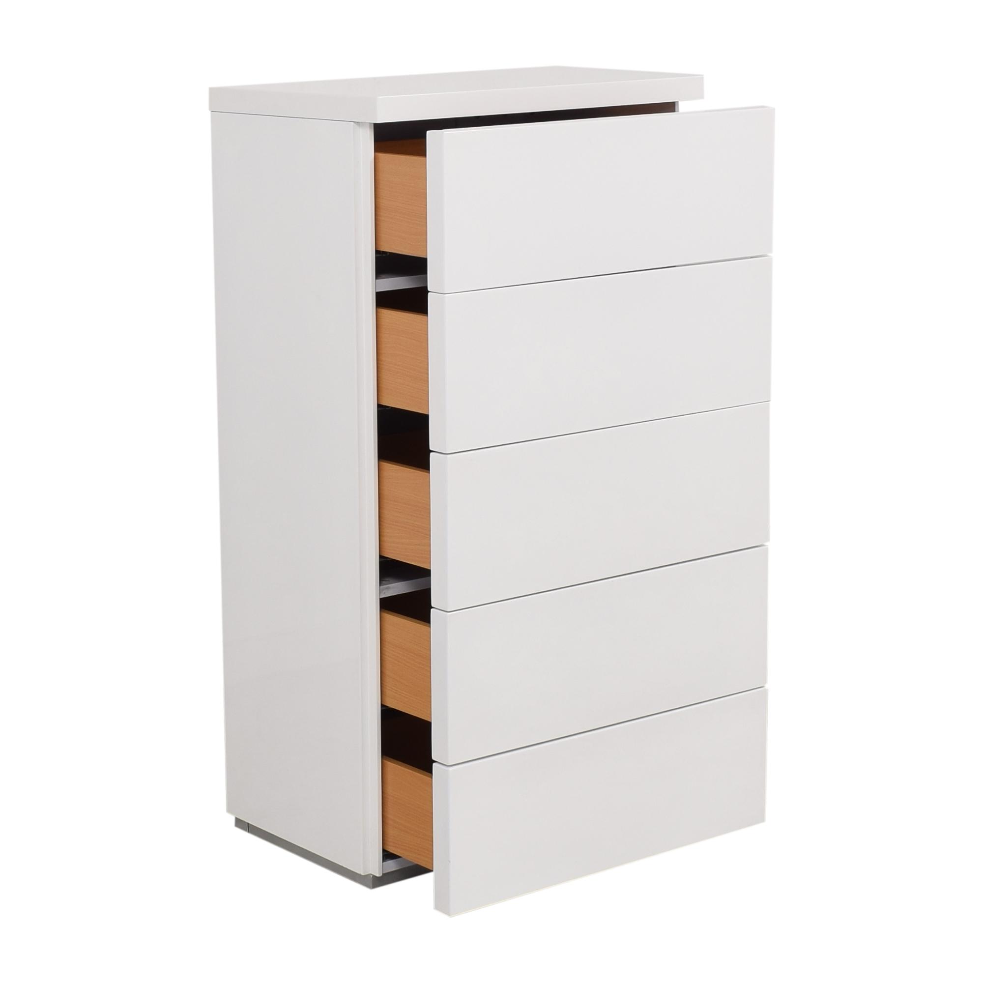 AllModern White Gloss 5 Drawer Chest / Dressers