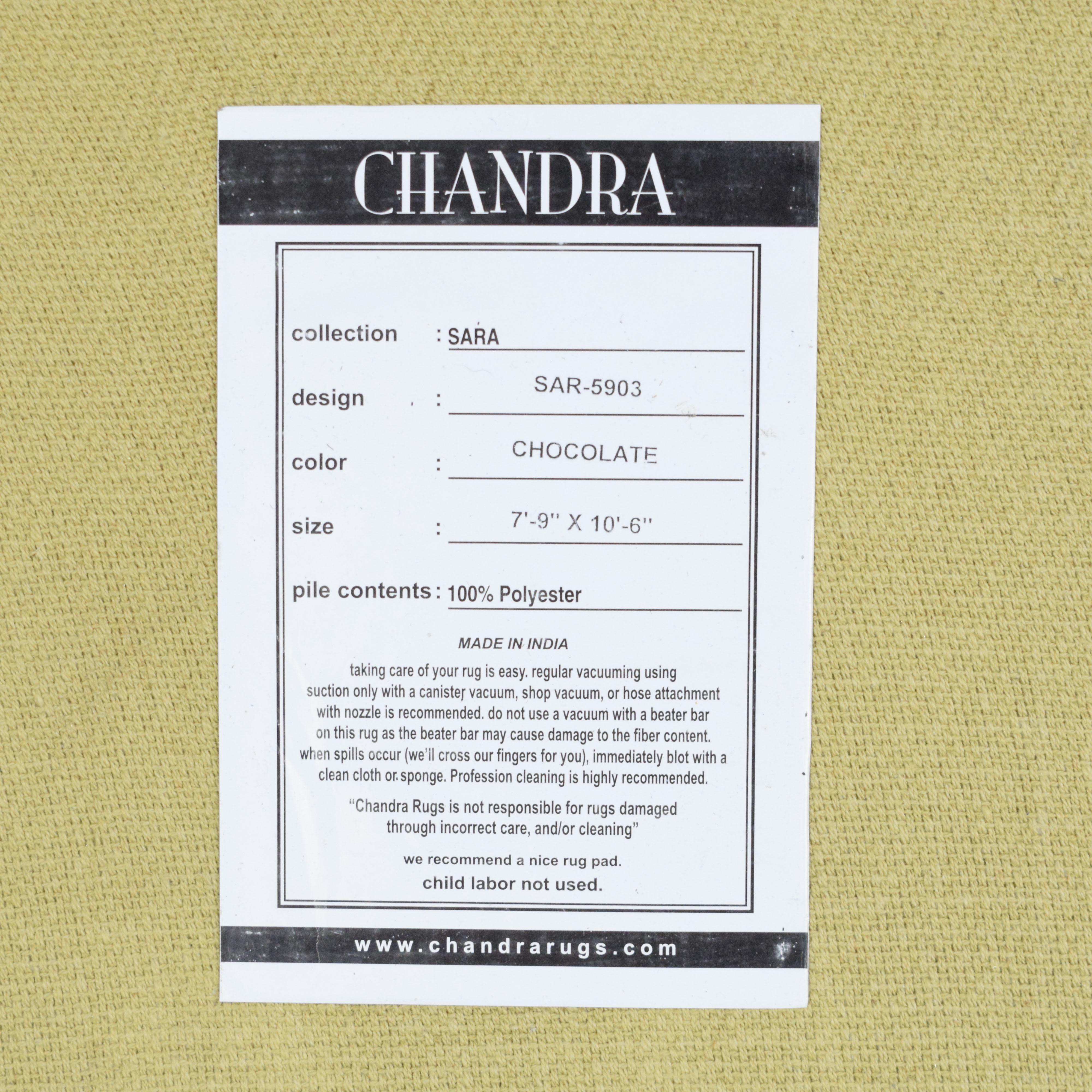 Burke Decor Chandra Sara Chocolate Rug light brown