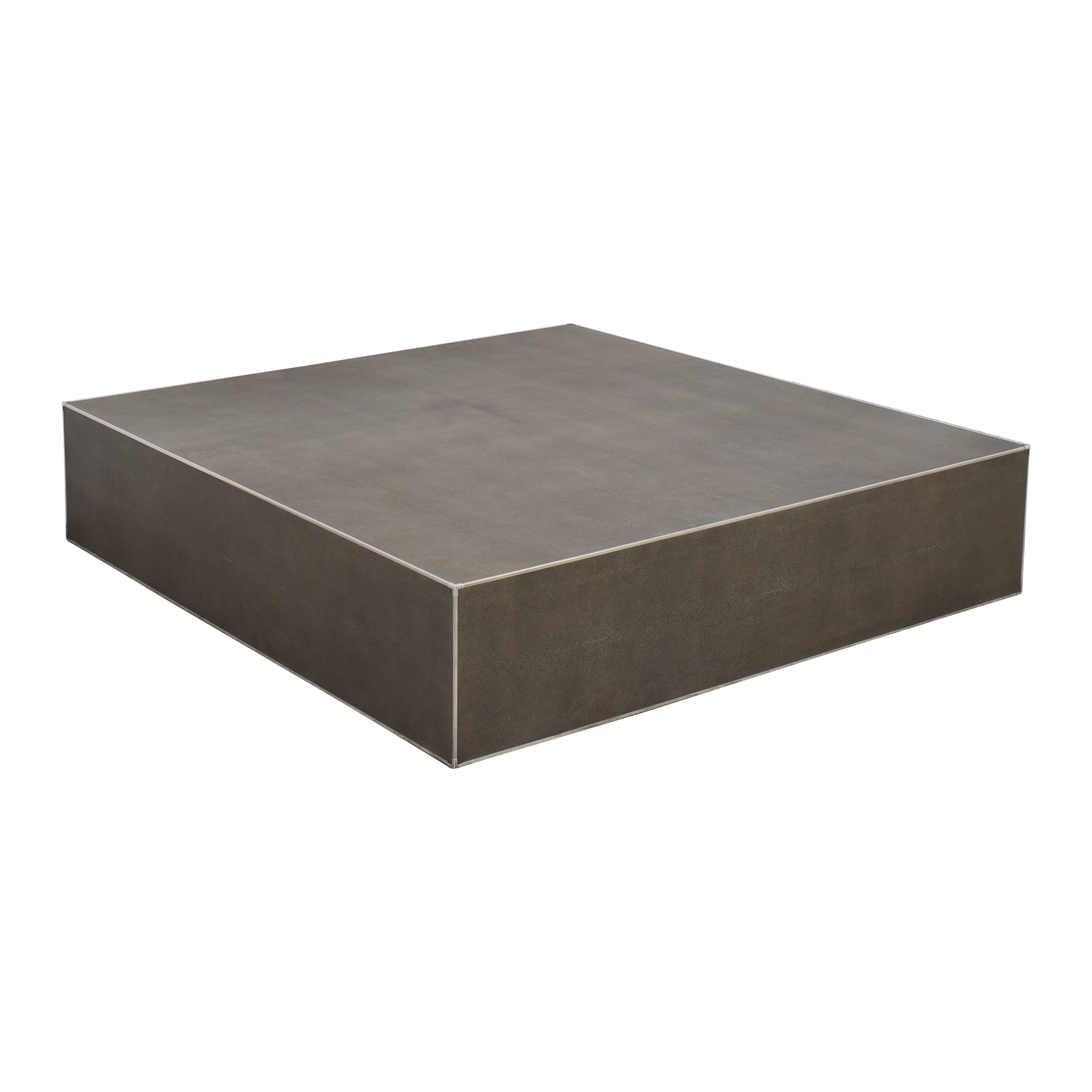 Restoration Hardware Restoration Hardware Saunderson Shagreen Cube Coffee Table ct