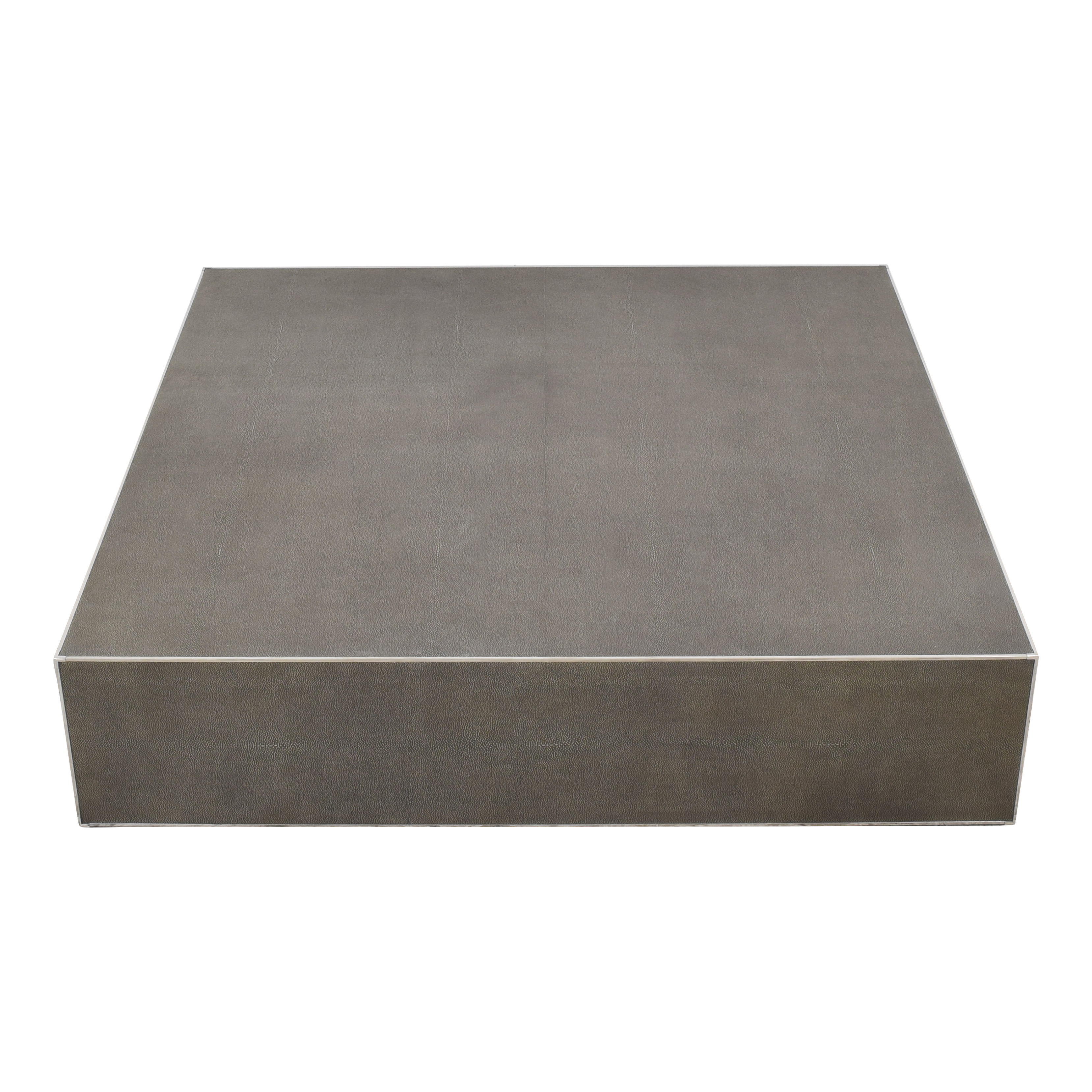 Restoration Hardware Restoration Hardware Saunderson Shagreen Cube Coffee Table Coffee Tables