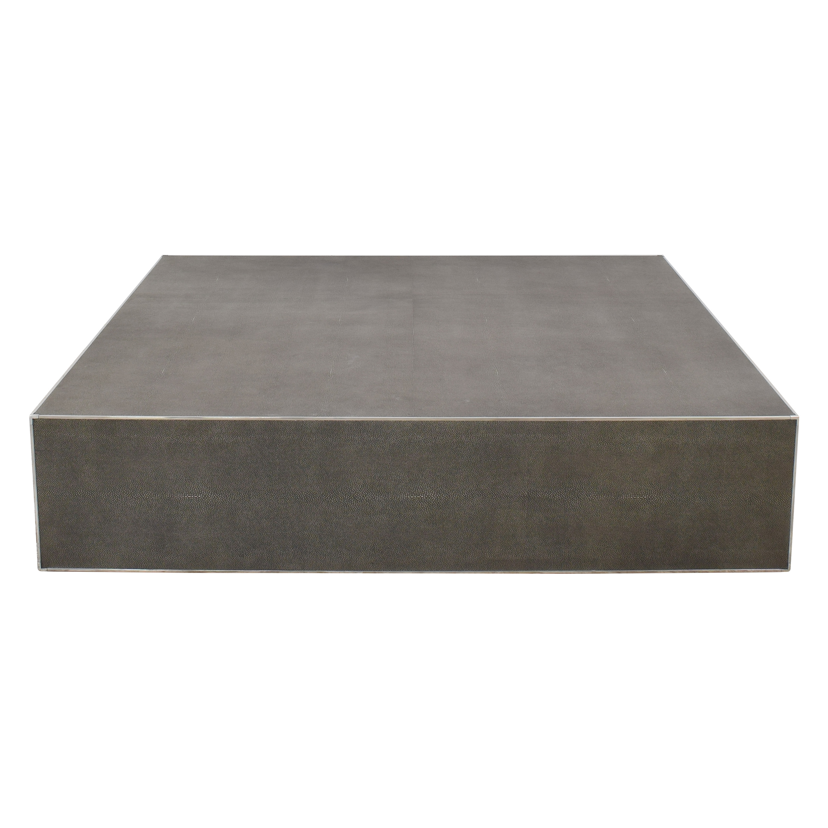 Restoration Hardware Restoration Hardware Saunderson Shagreen Cube Coffee Table dimensions
