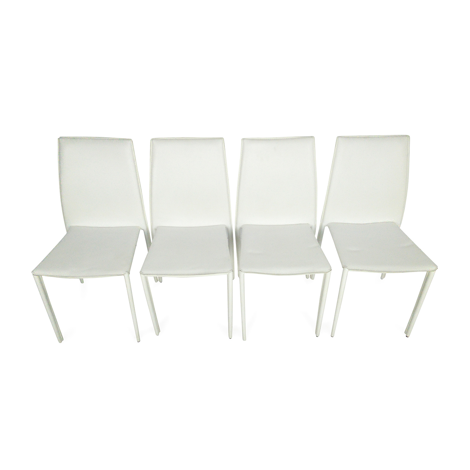 51 OFF All Modern All Modern White Leather Dining Chairs Chairs