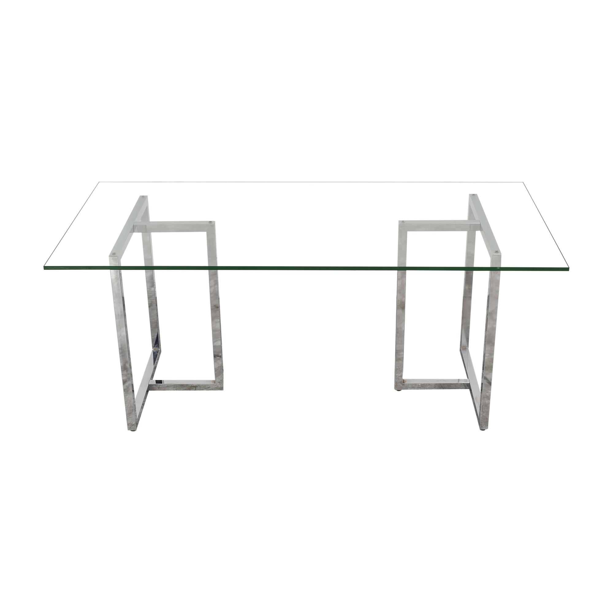 buy CB2 Silverado Rectangular Dining Table CB2 Tables
