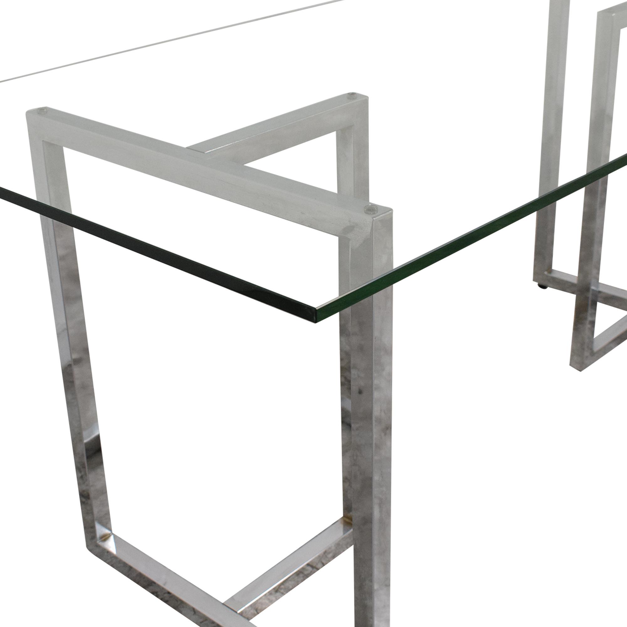 CB2 CB2 Silverado Rectangular Dining Table silver