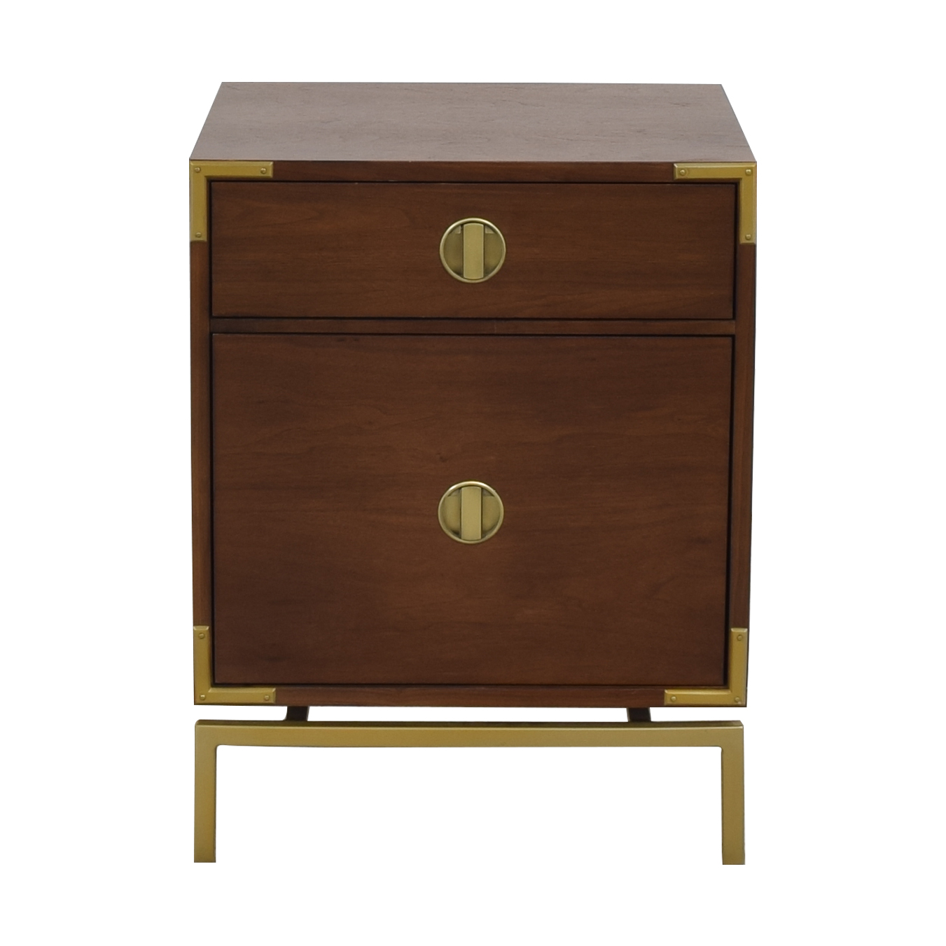 shop West Elm Malone Campaign Nightstand West Elm Tables