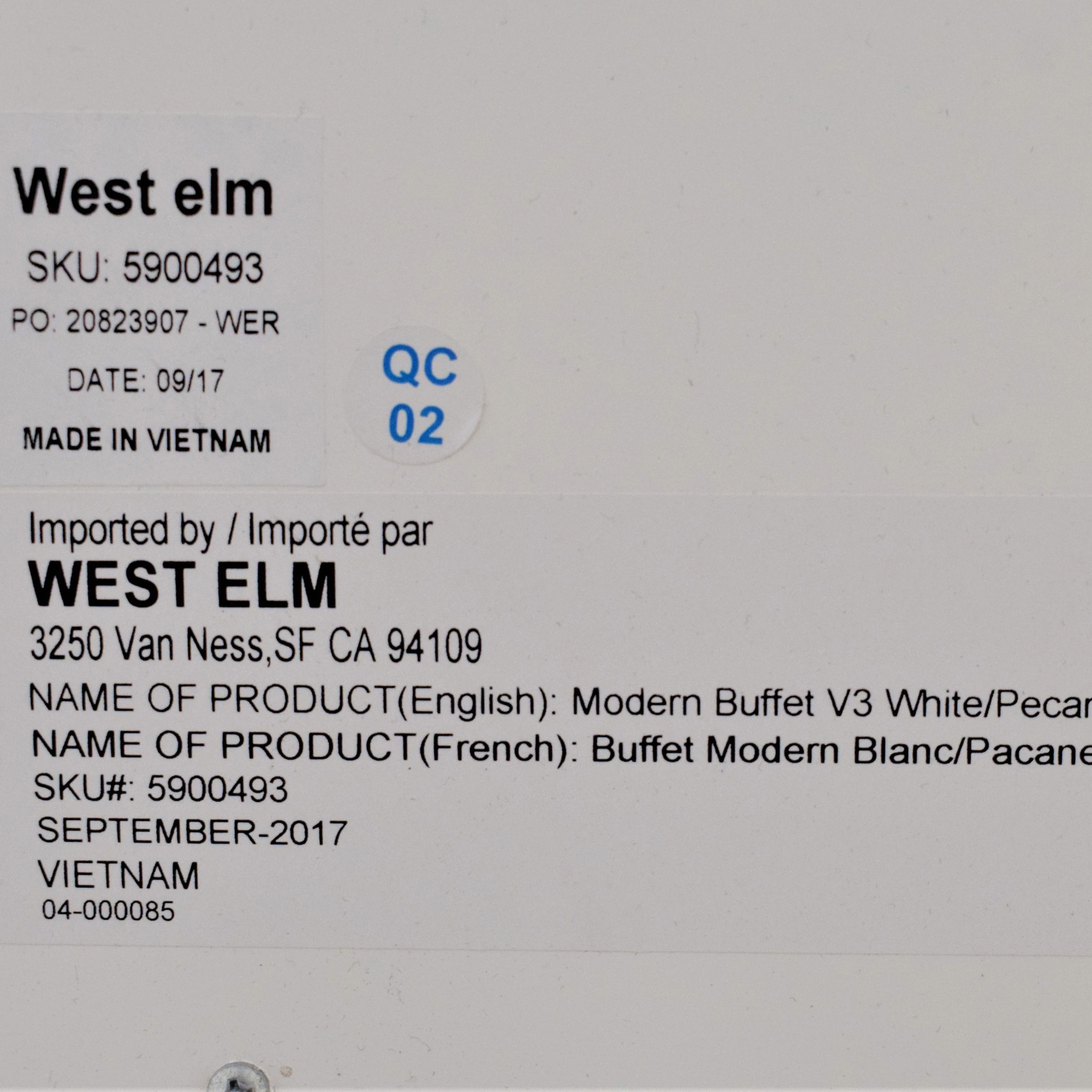 West Elm West Elm Modern Media Console dimensions