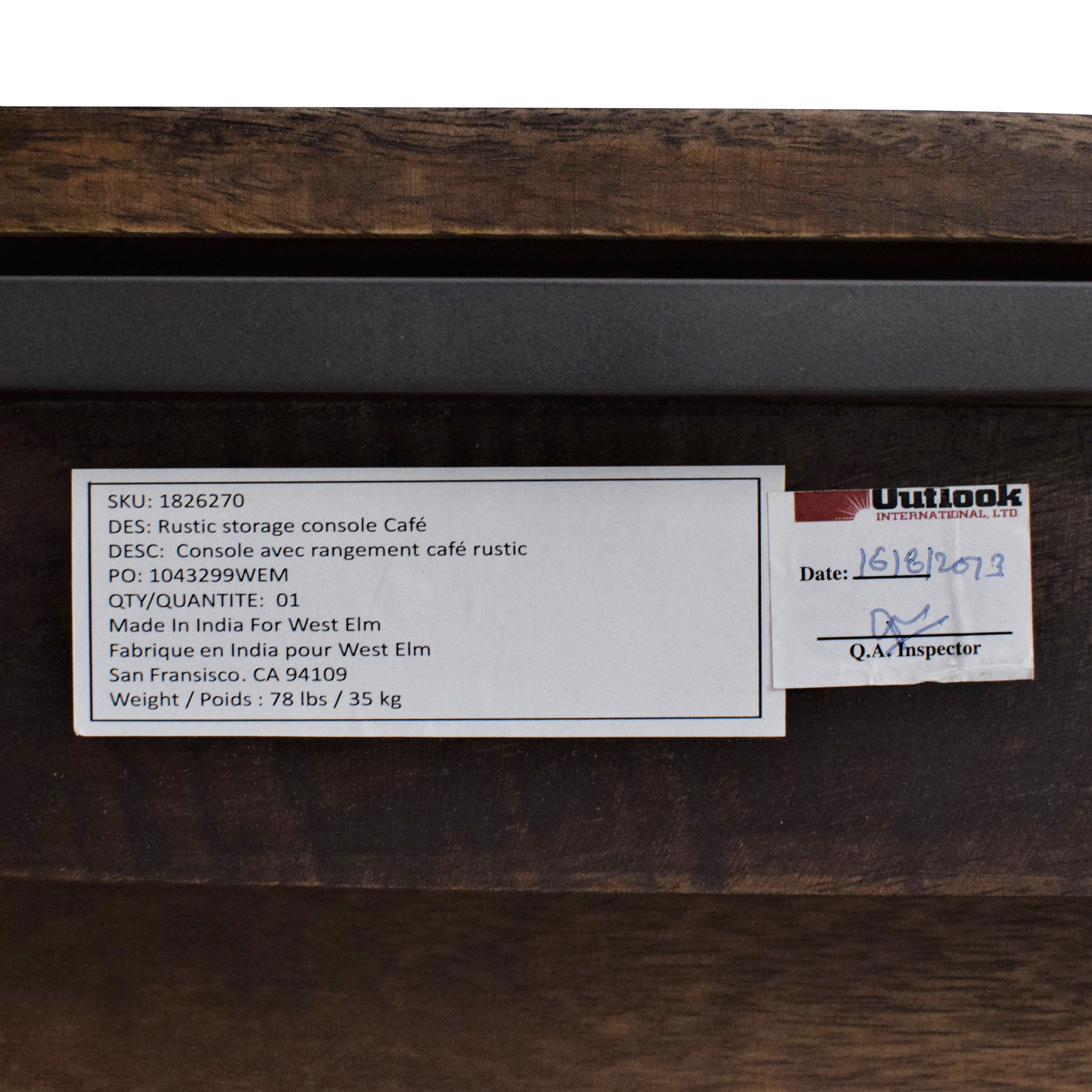 West Elm West Elm Industrial Storage Console used