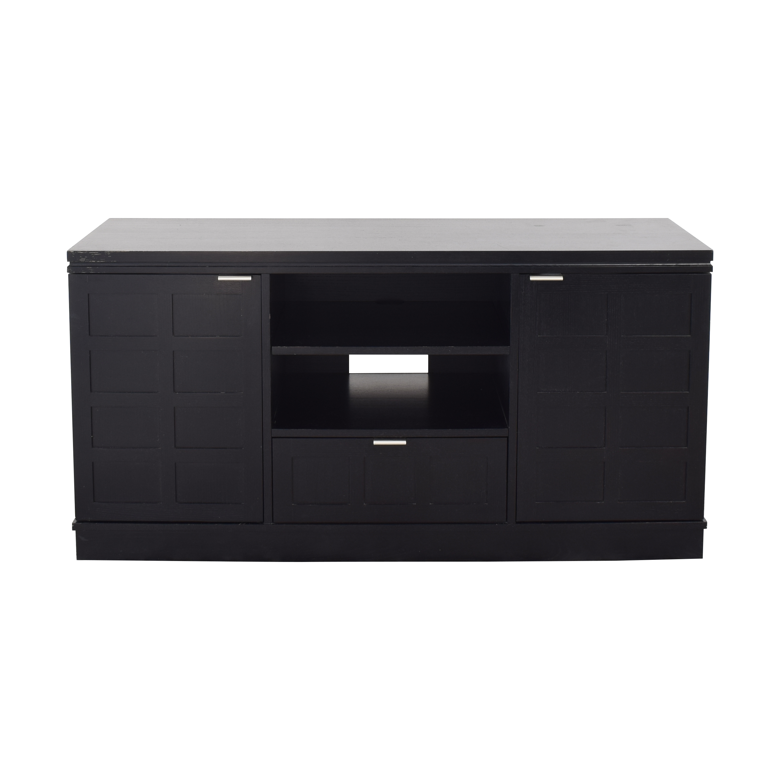 Crate & Barrel Crate & Barrel Wood Media Console black
