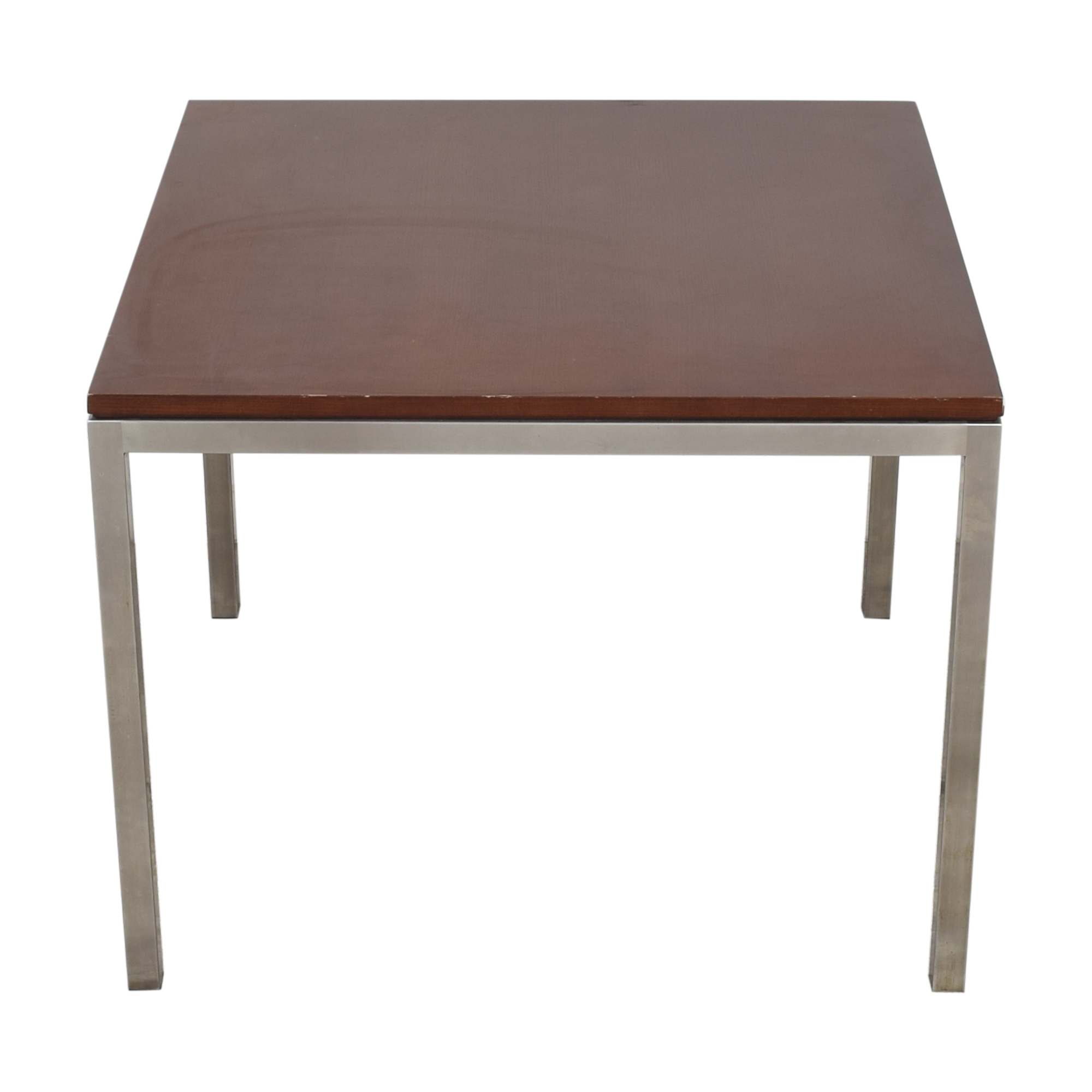 buy Ethan Allen Wood and Chrome Dining Table Ethan Allen Tables