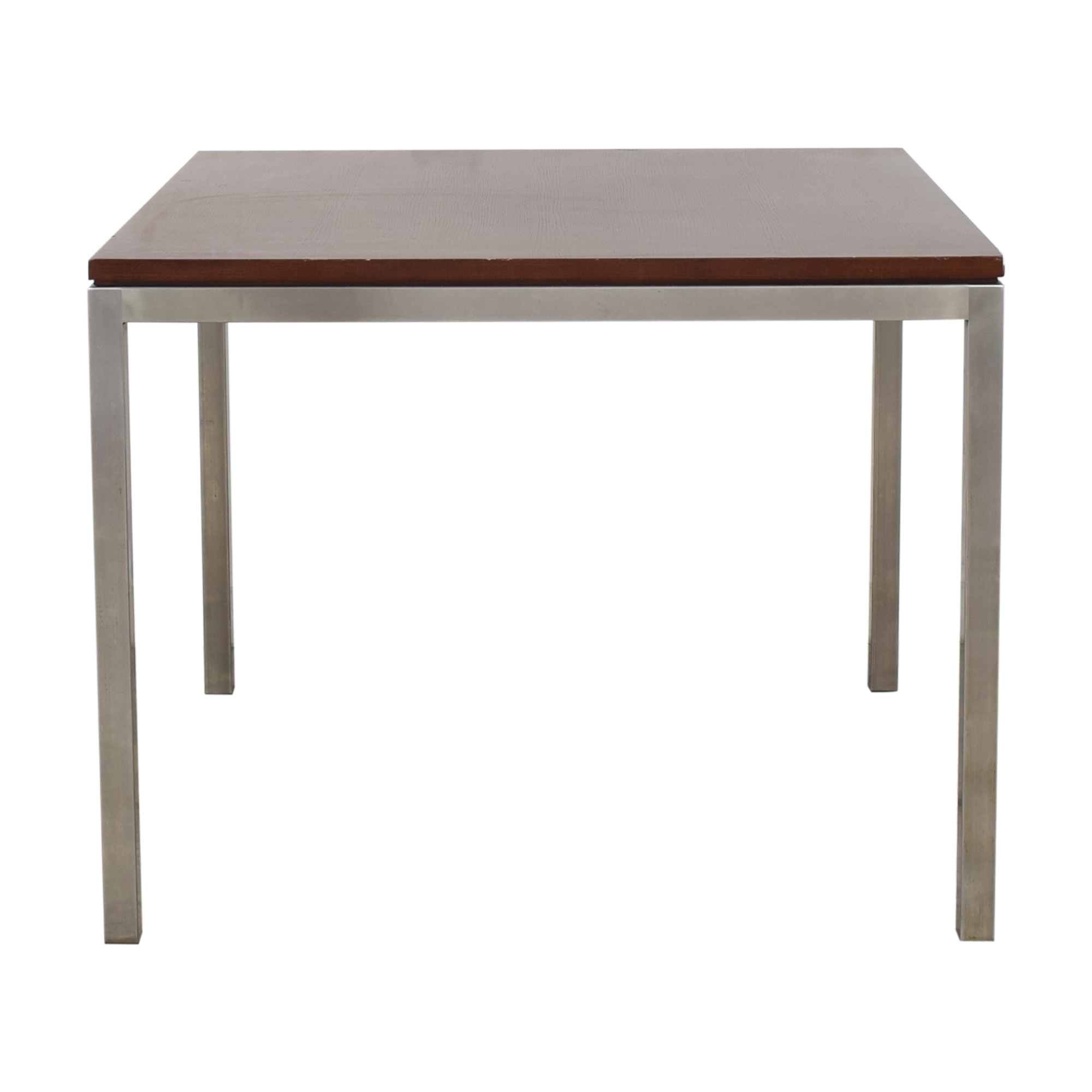 buy Ethan Allen Wood and Chrome Dining Table Ethan Allen Dinner Tables