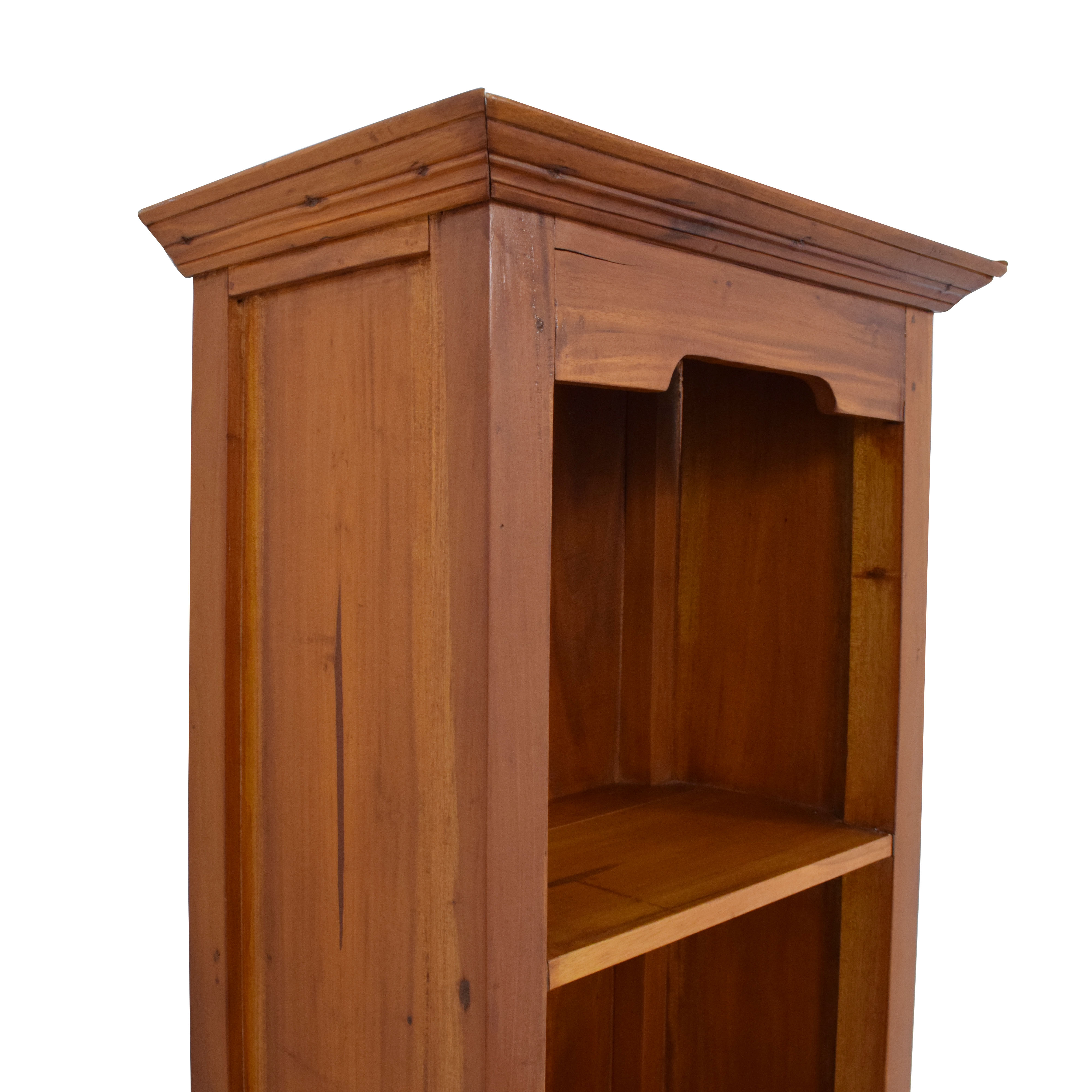 Tall Wood Bookcase with Storage Drawer